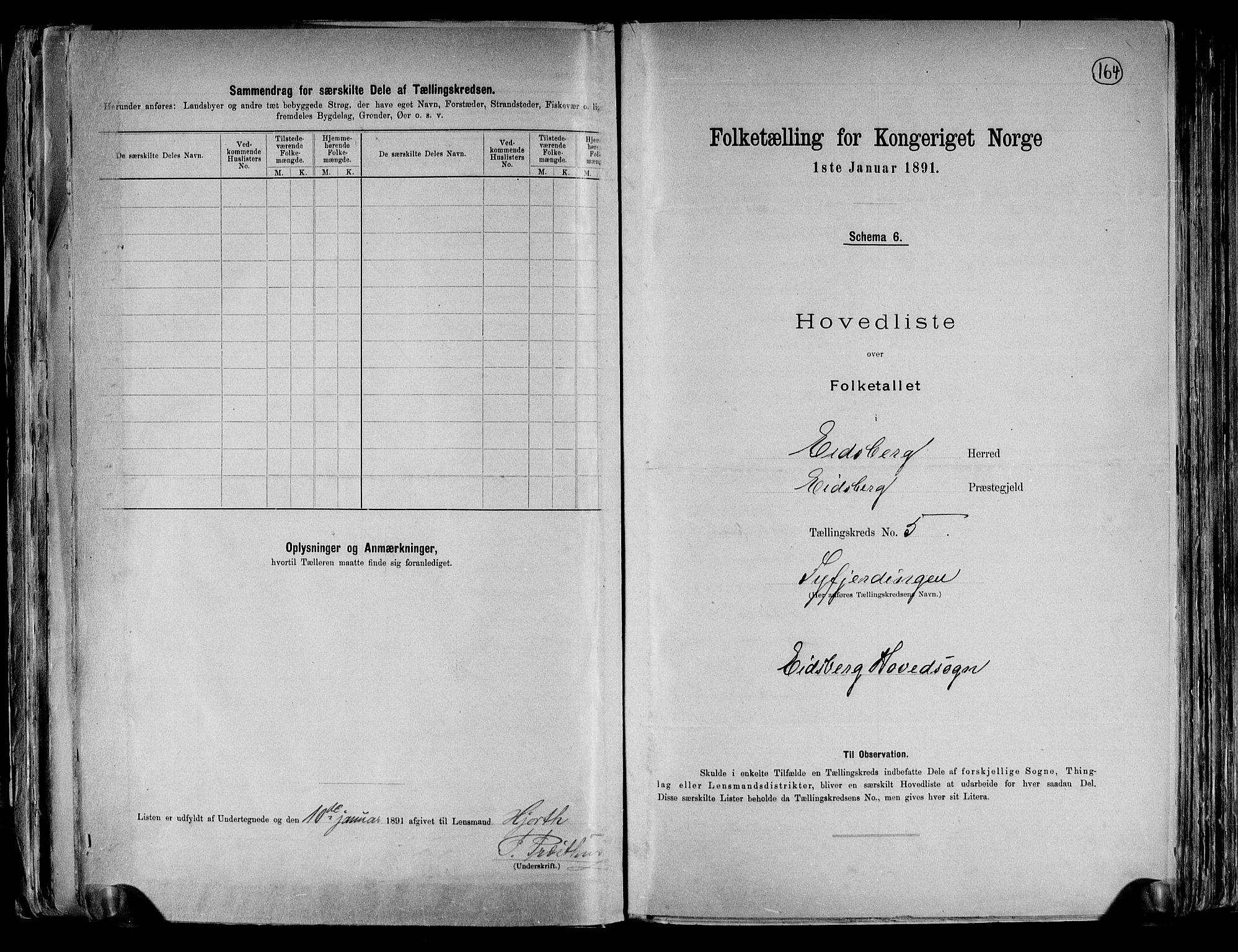 RA, Folketelling 1891 for 0125 Eidsberg herred, 1891, s. 16