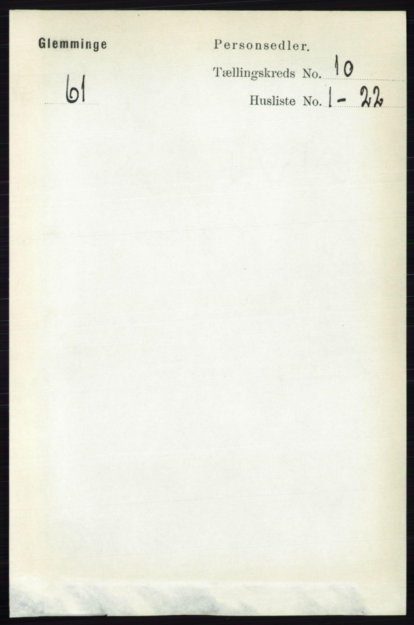 RA, Folketelling 1891 for 0132 Glemmen herred, 1891, s. 9970