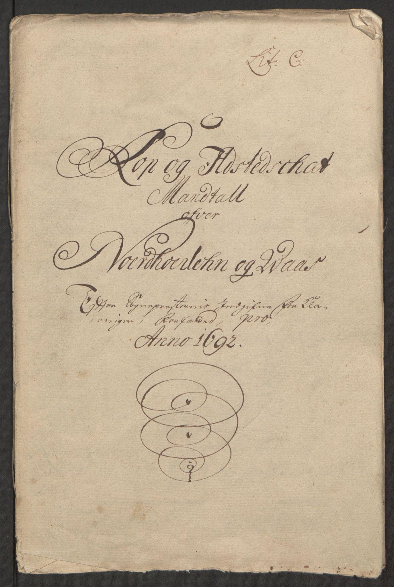 RA, Rentekammeret inntil 1814, Reviderte regnskaper, Fogderegnskap, R51/L3181: Fogderegnskap Nordhordland og Voss, 1691-1692, s. 307