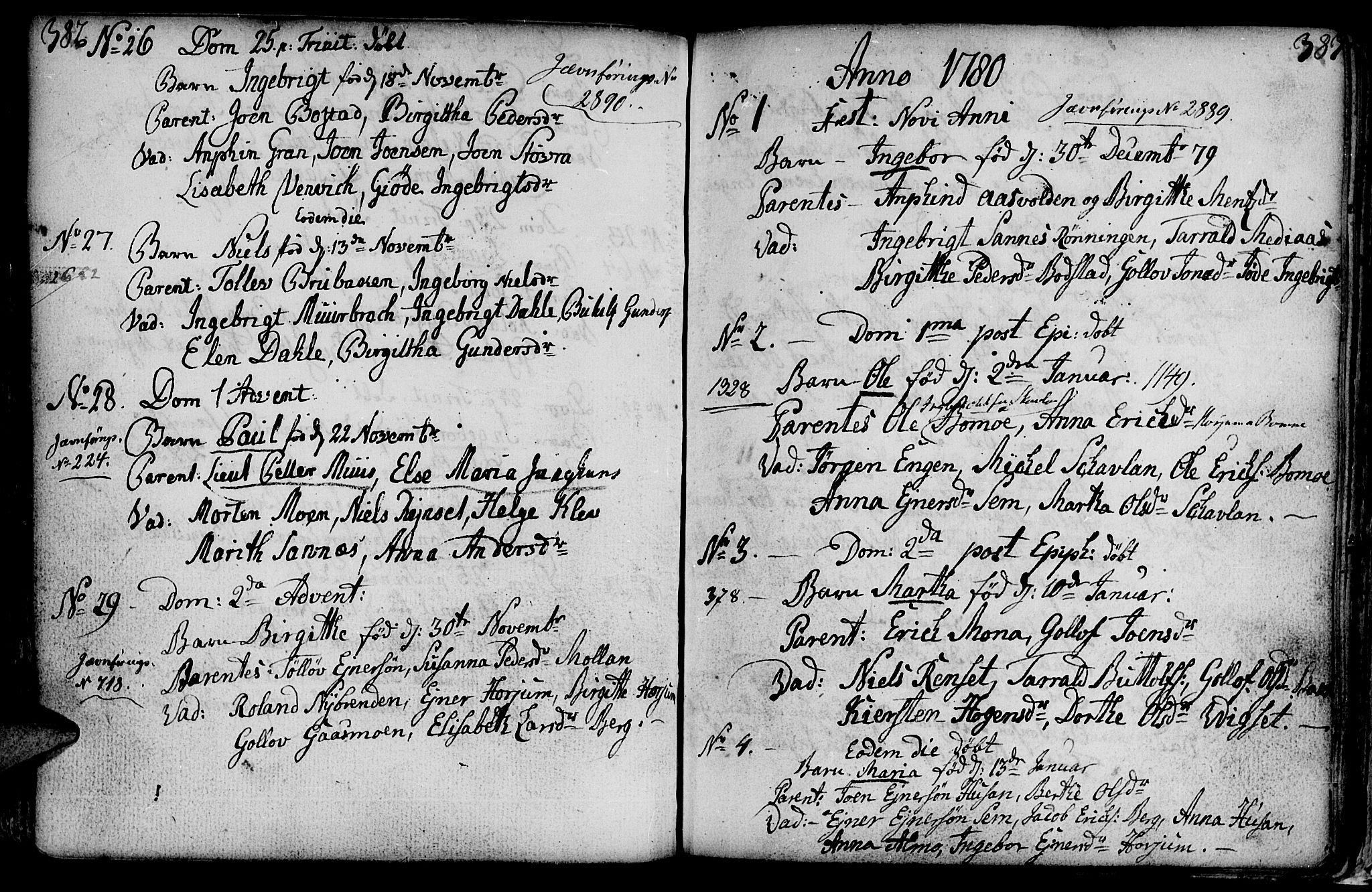 SAT, Ministerialprotokoller, klokkerbøker og fødselsregistre - Nord-Trøndelag, 749/L0467: Ministerialbok nr. 749A01, 1733-1787, s. 382-383