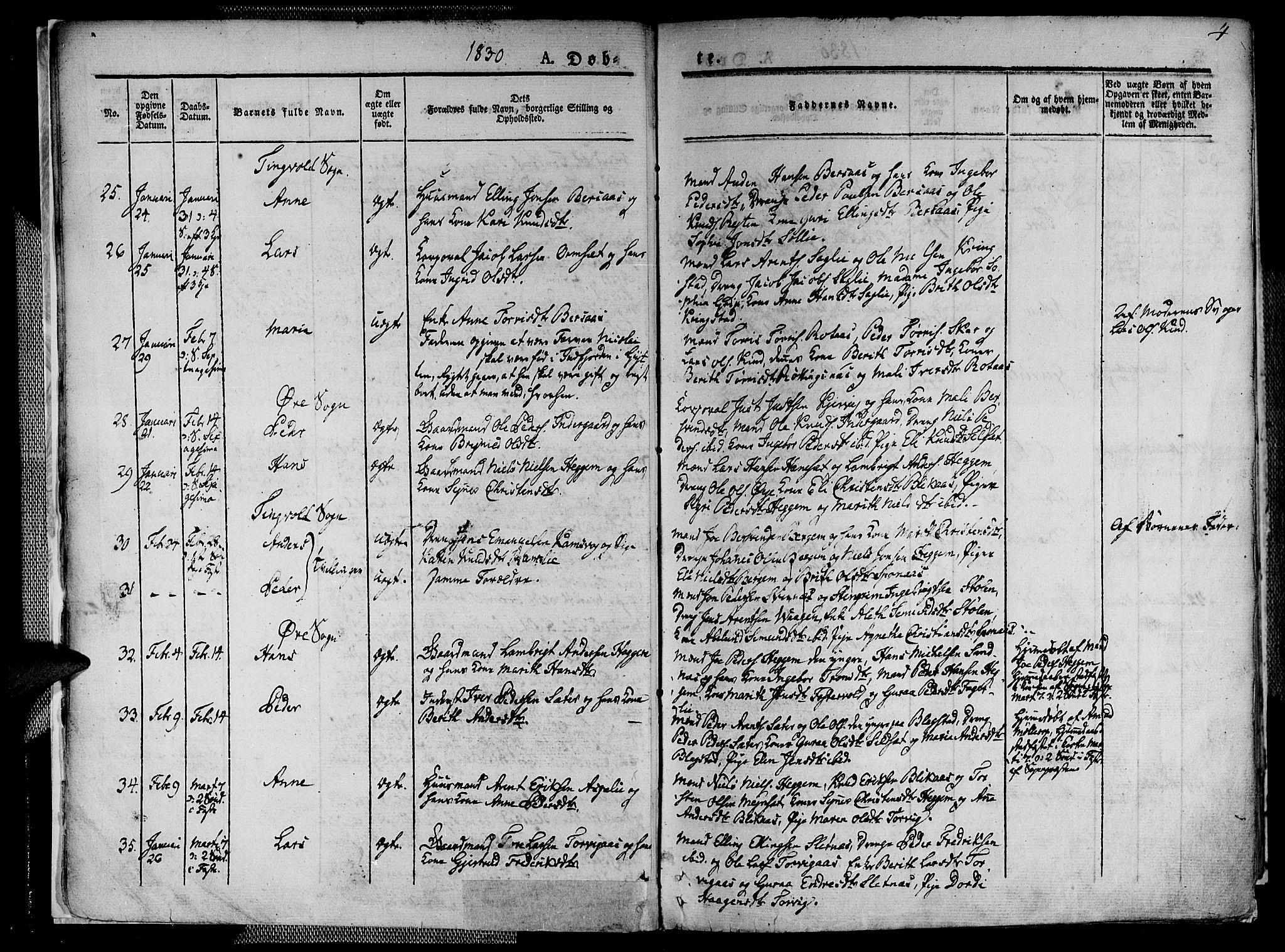SAT, Ministerialprotokoller, klokkerbøker og fødselsregistre - Møre og Romsdal, 586/L0983: Ministerialbok nr. 586A09, 1829-1843, s. 4