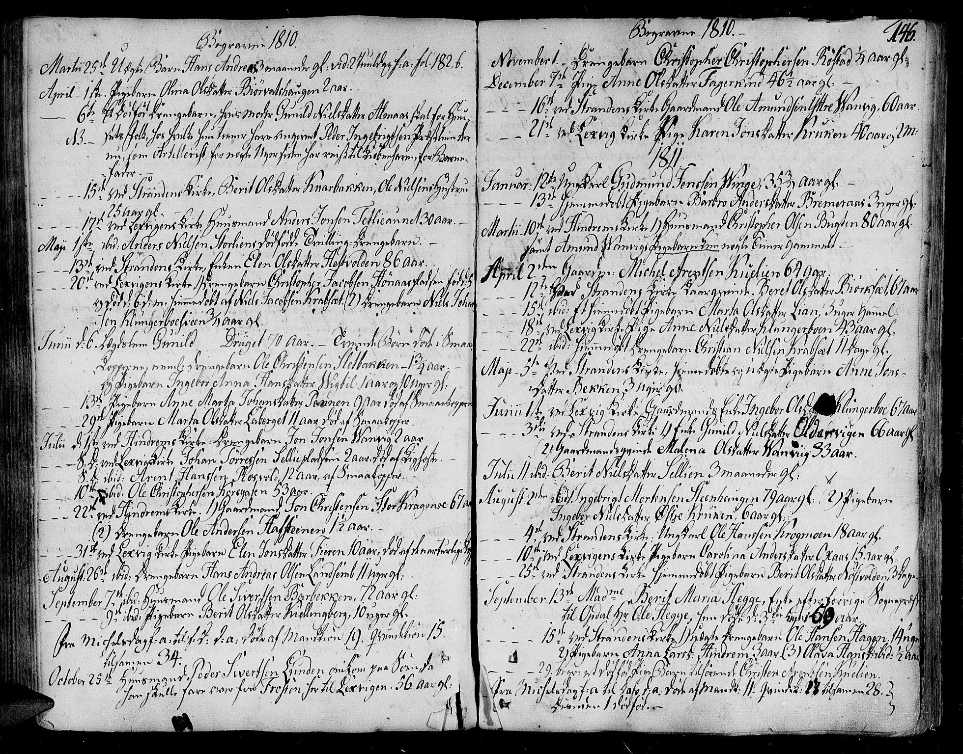 SAT, Ministerialprotokoller, klokkerbøker og fødselsregistre - Nord-Trøndelag, 701/L0004: Ministerialbok nr. 701A04, 1783-1816, s. 146