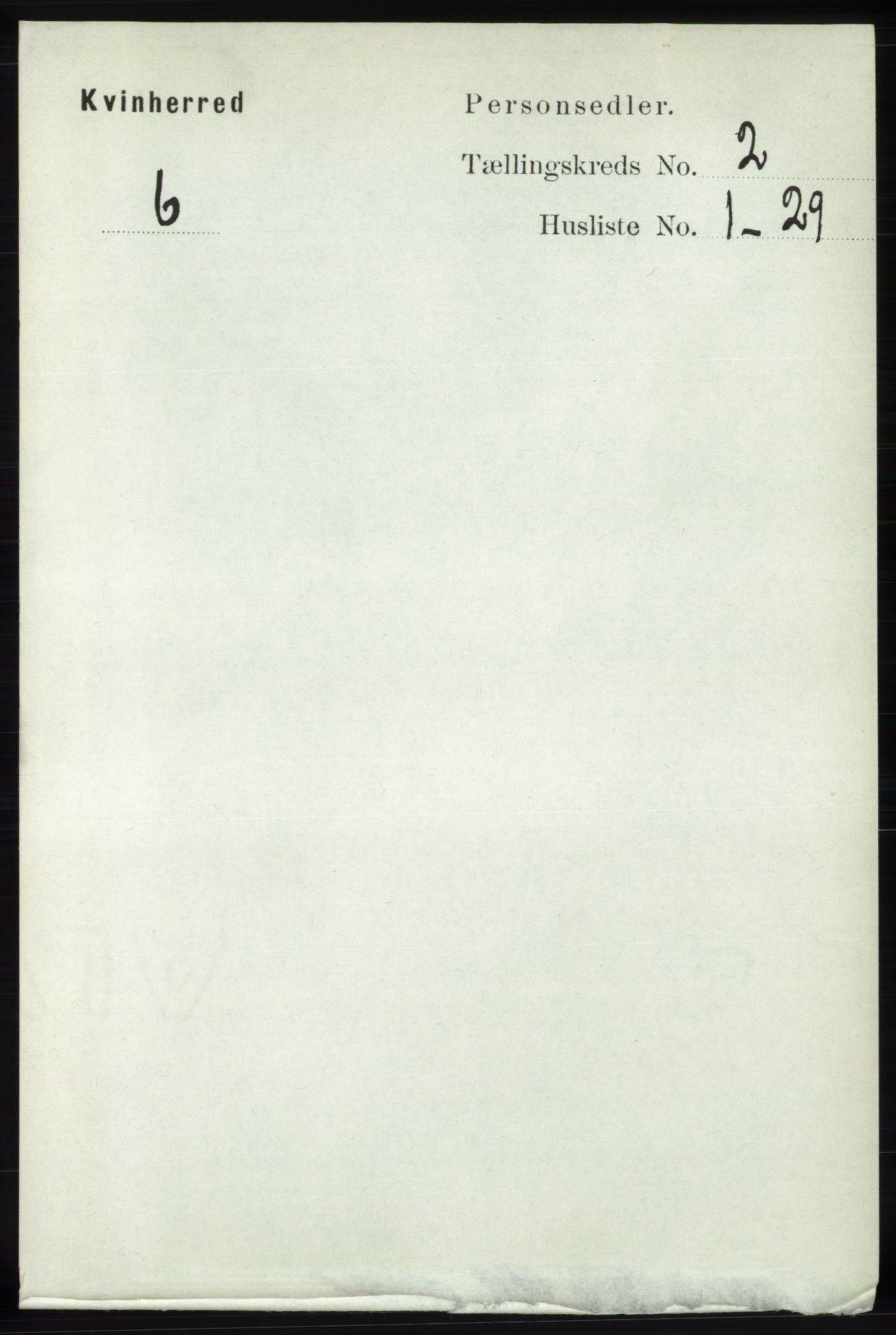 RA, Folketelling 1891 for 1224 Kvinnherad herred, 1891, s. 624