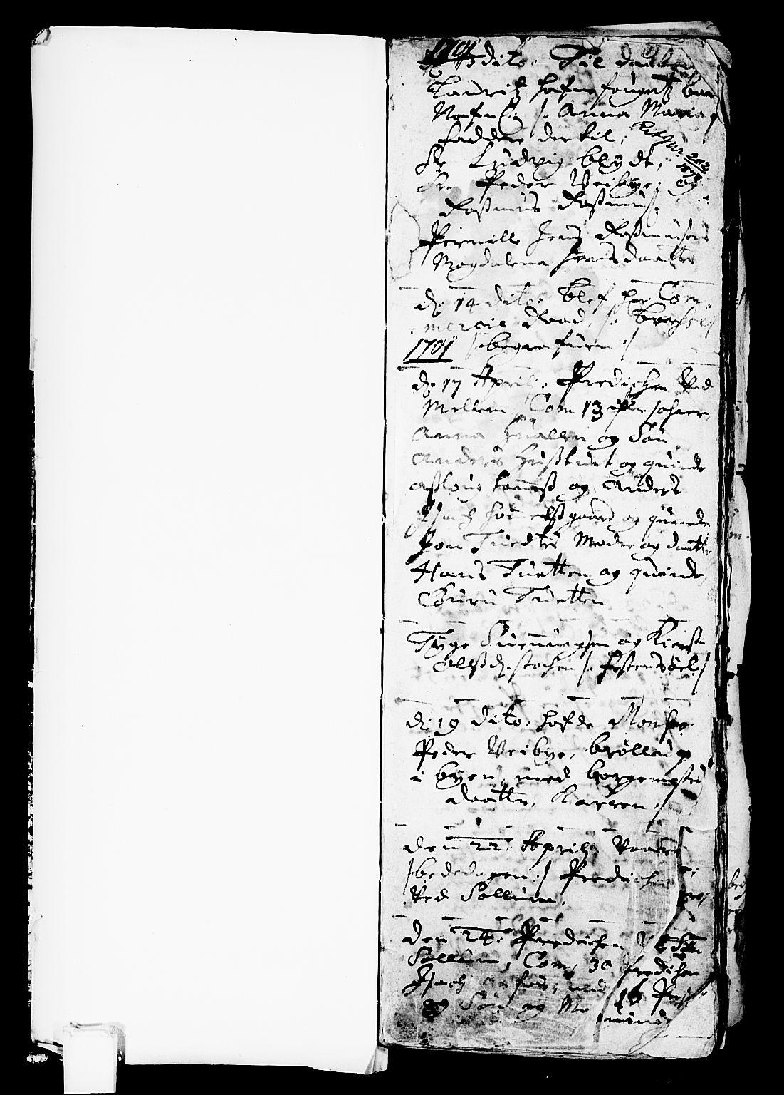 SAKO, Solum kirkebøker, F/Fa/L0001: Ministerialbok nr. I 1, 1701-1716, s. 1