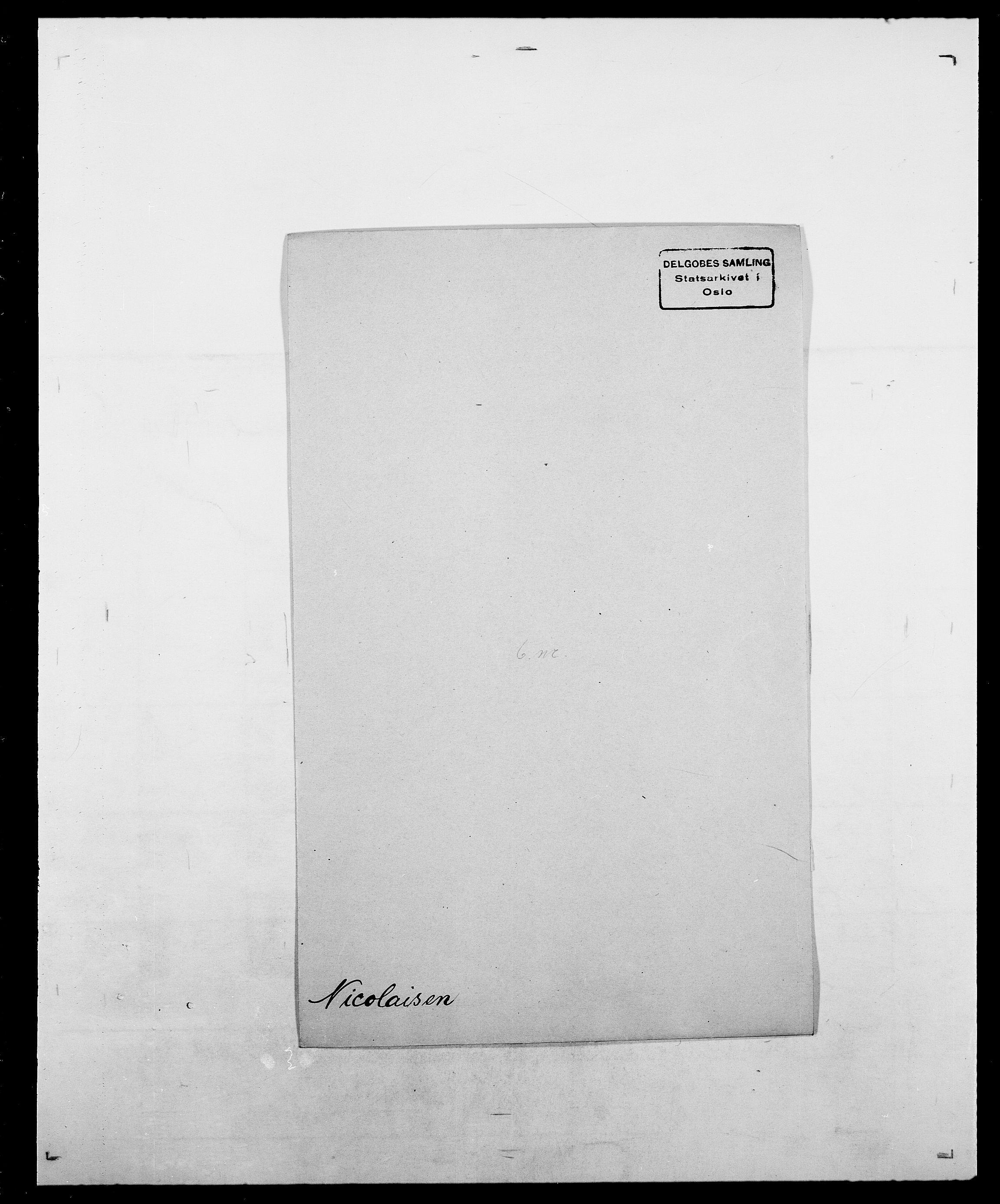 SAO, Delgobe, Charles Antoine - samling, D/Da/L0028: Naaden - Nøvik, s. 177