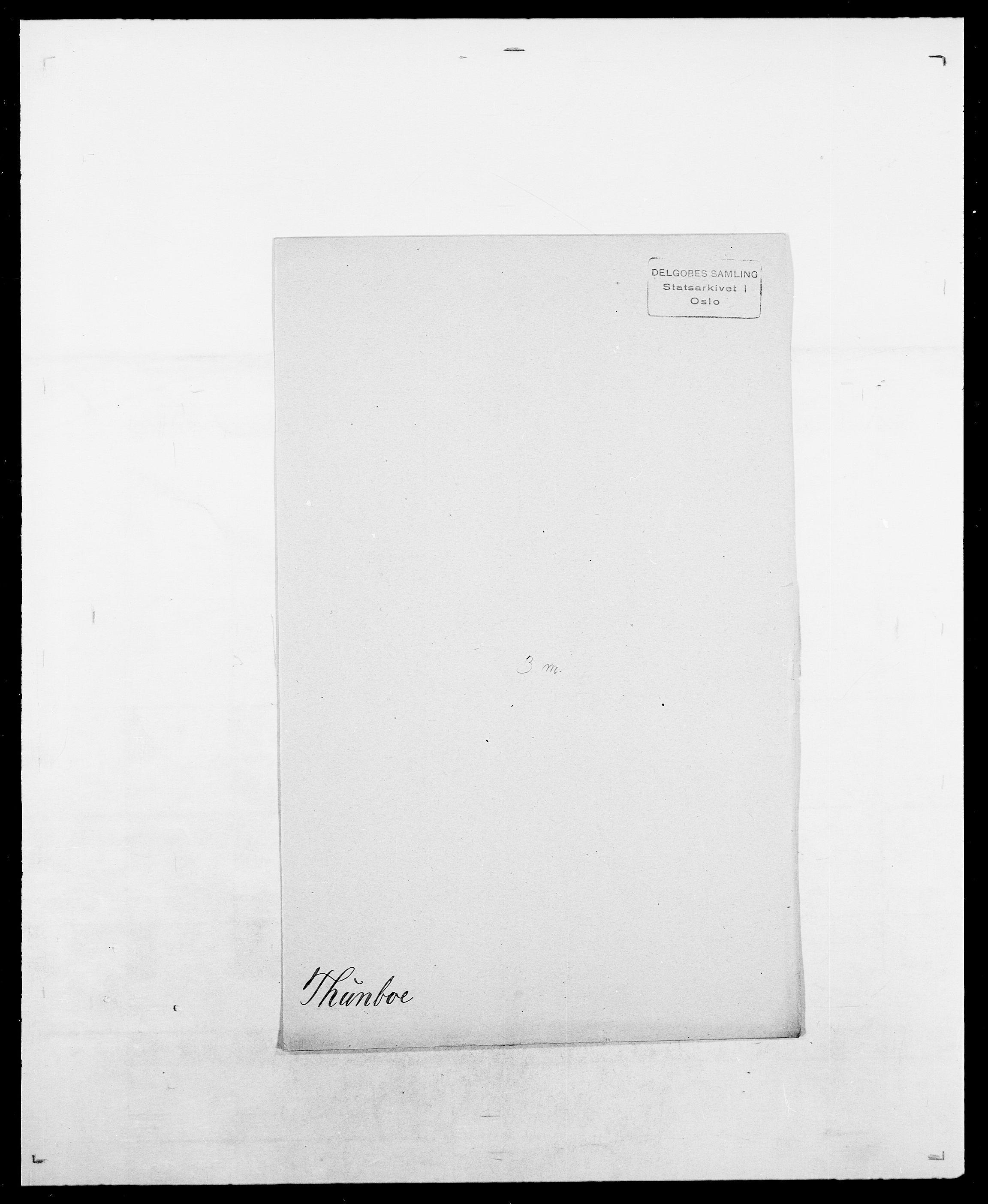 SAO, Delgobe, Charles Antoine - samling, D/Da/L0038: Svanenskjold - Thornsohn, s. 1026