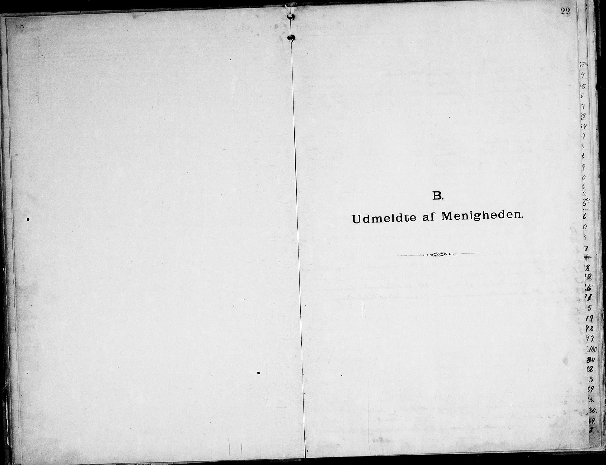 SAT, Ministerialprotokoller, klokkerbøker og fødselsregistre - Nordland, 888/L1276: Dissenterprotokoll nr. 888D03, 1893-1944, s. 22