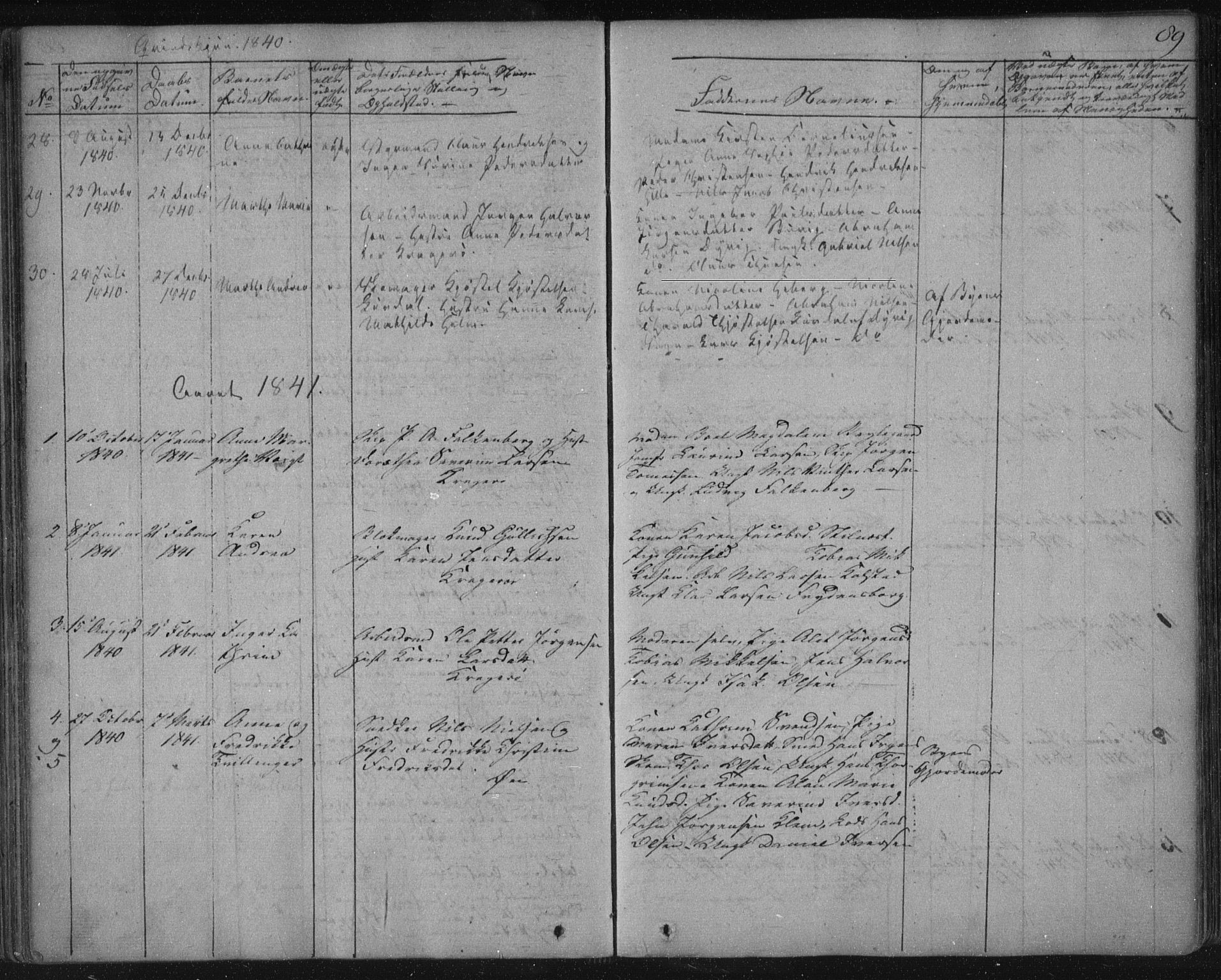SAKO, Kragerø kirkebøker, F/Fa/L0005: Ministerialbok nr. 5, 1832-1847, s. 89