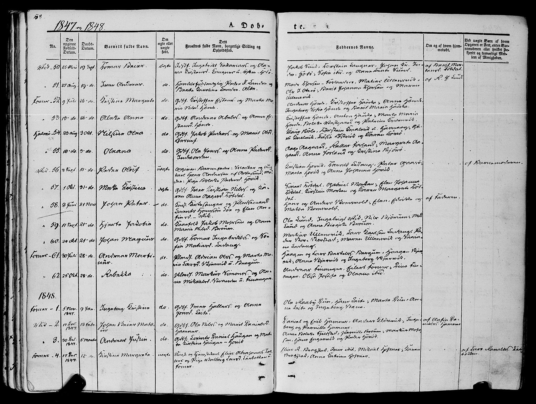 SAT, Ministerialprotokoller, klokkerbøker og fødselsregistre - Nord-Trøndelag, 773/L0614: Ministerialbok nr. 773A05, 1831-1856, s. 58