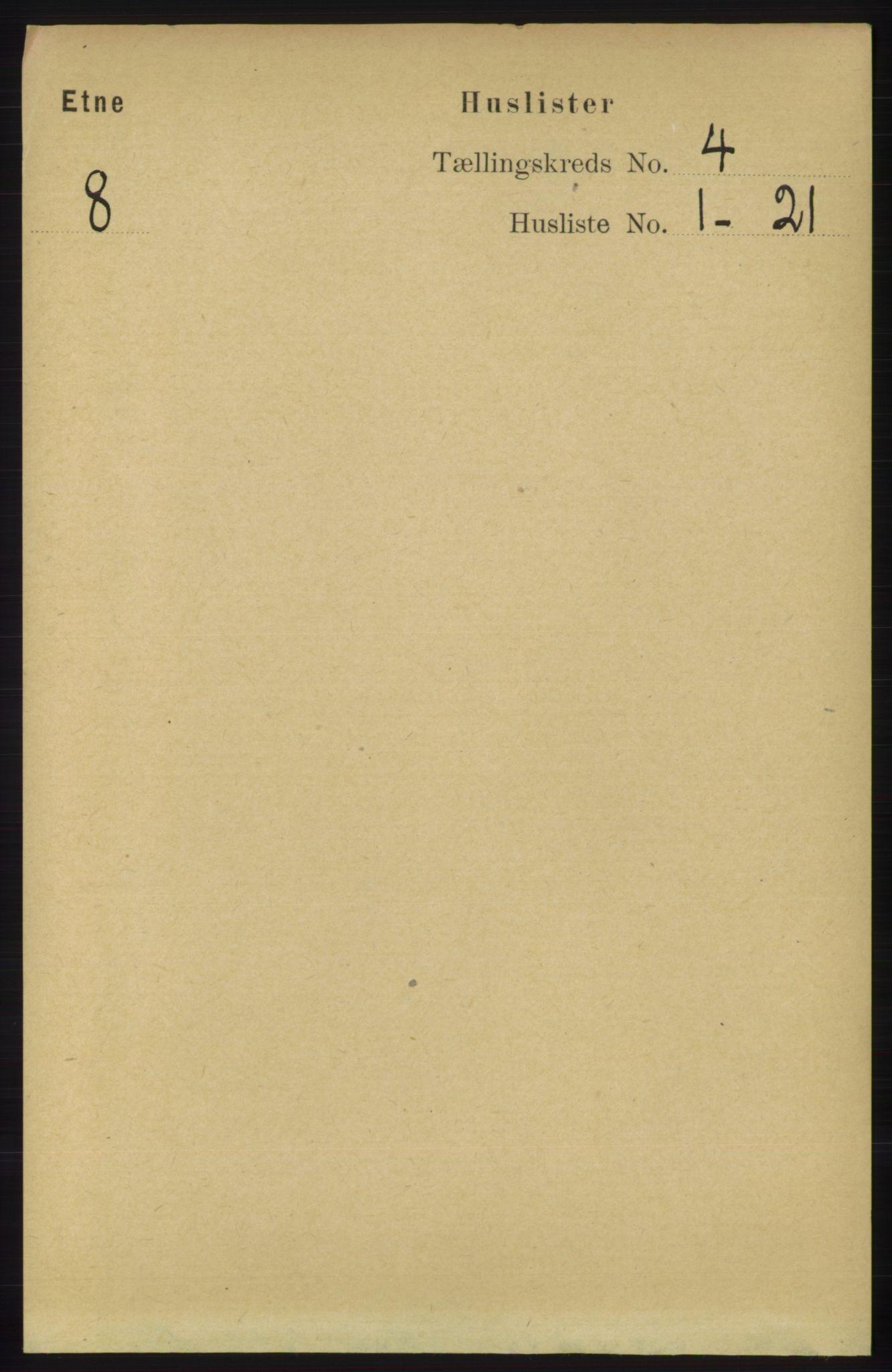 RA, Folketelling 1891 for 1211 Etne herred, 1891, s. 828