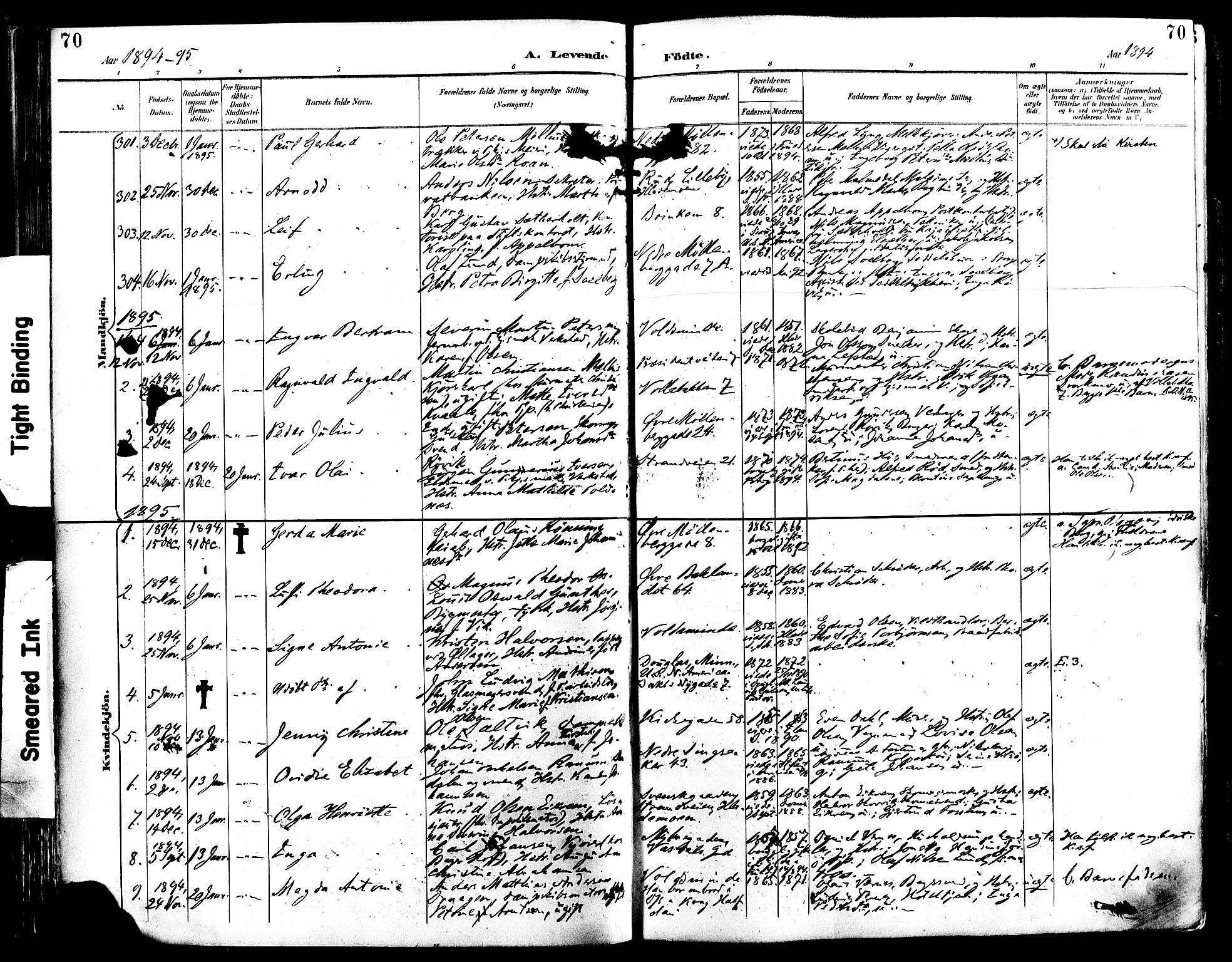 SAT, Ministerialprotokoller, klokkerbøker og fødselsregistre - Sør-Trøndelag, 604/L0197: Ministerialbok nr. 604A18, 1893-1900, s. 70