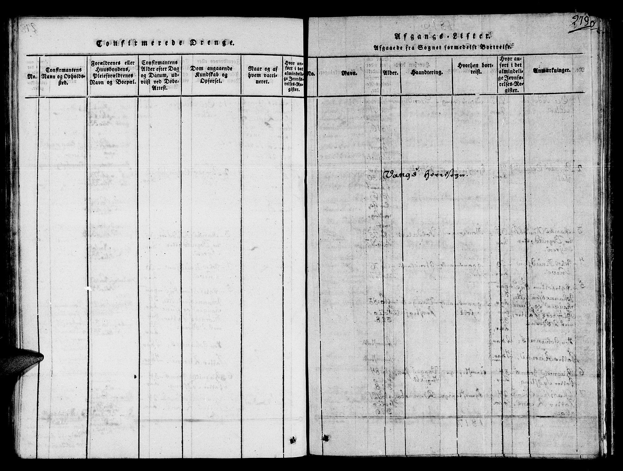 SAT, Ministerialprotokoller, klokkerbøker og fødselsregistre - Sør-Trøndelag, 678/L0895: Ministerialbok nr. 678A05 /1, 1816-1821, s. 279