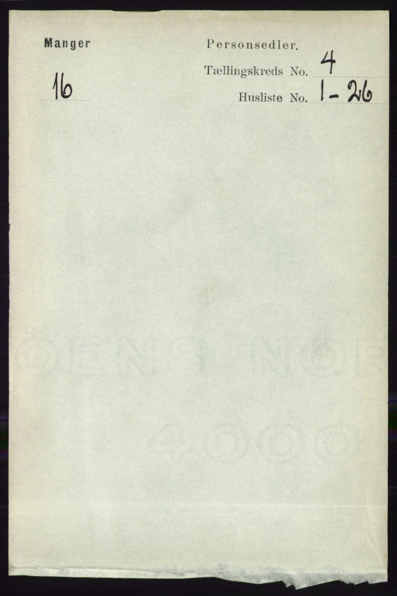 RA, Folketelling 1891 for 1261 Manger herred, 1891, s. 1950