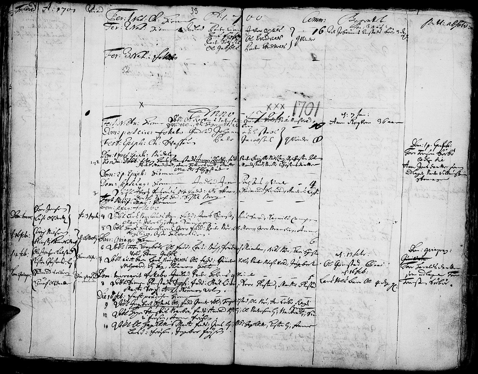 SAH, Gausdal prestekontor, Ministerialbok nr. 1, 1693-1728, s. 33