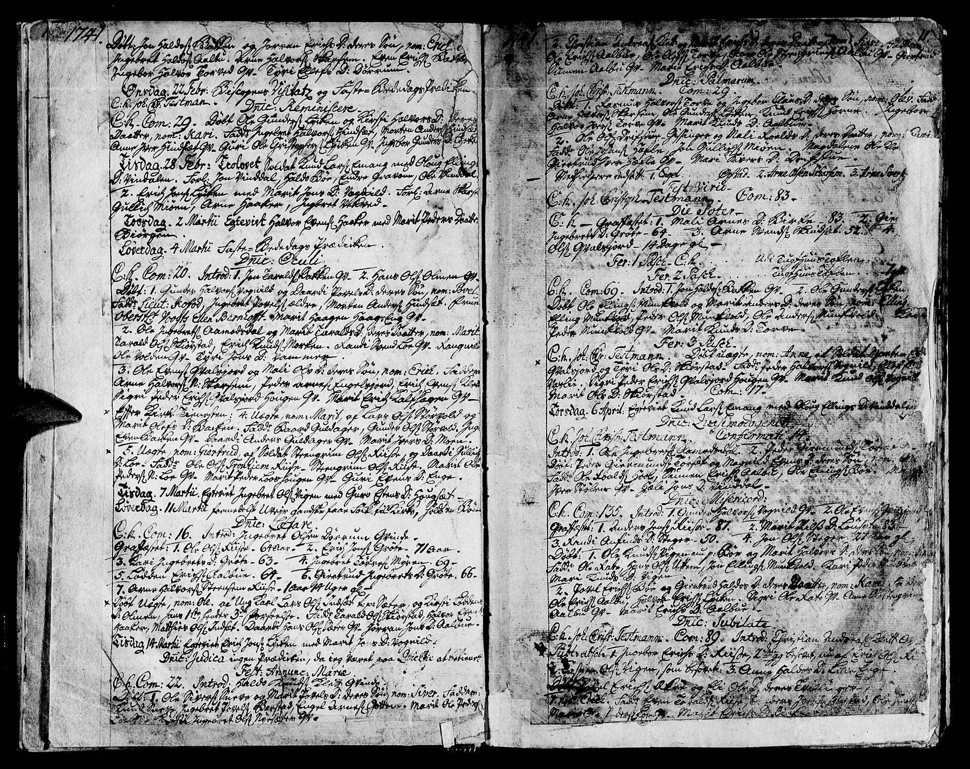 SAT, Ministerialprotokoller, klokkerbøker og fødselsregistre - Sør-Trøndelag, 678/L0891: Ministerialbok nr. 678A01, 1739-1780, s. 11
