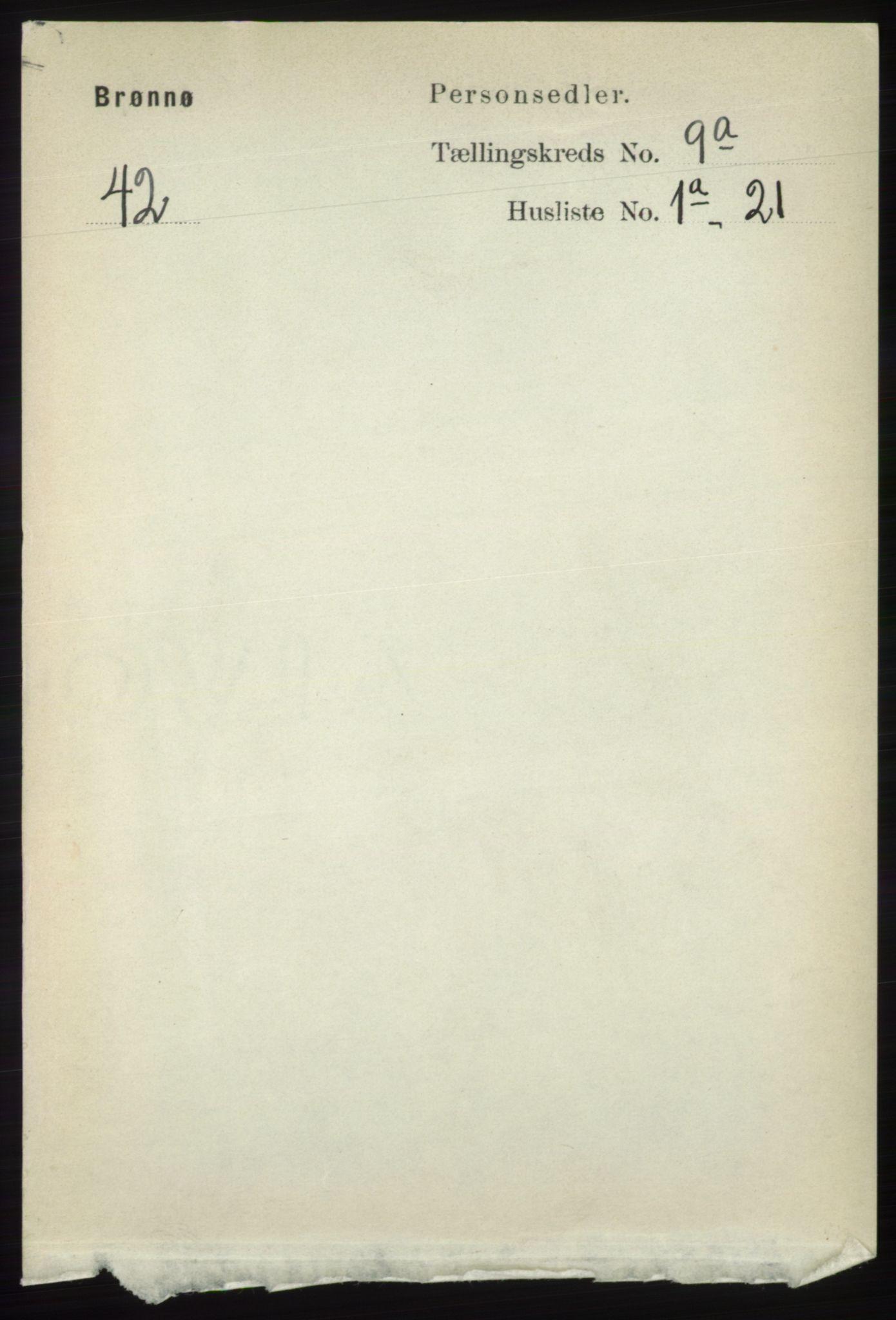 RA, Folketelling 1891 for 1814 Brønnøy herred, 1891, s. 4907