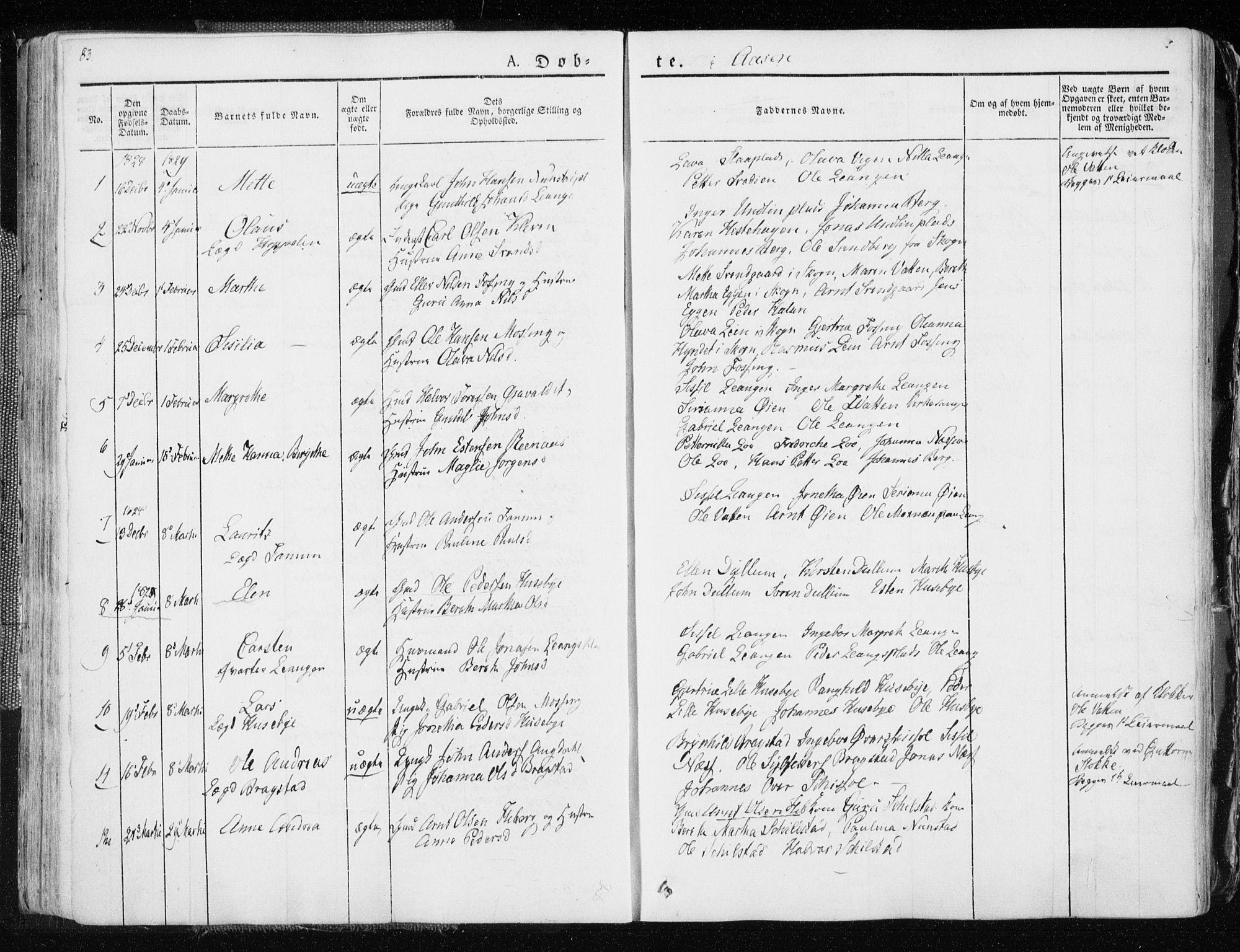 SAT, Ministerialprotokoller, klokkerbøker og fødselsregistre - Nord-Trøndelag, 713/L0114: Ministerialbok nr. 713A05, 1827-1839, s. 83