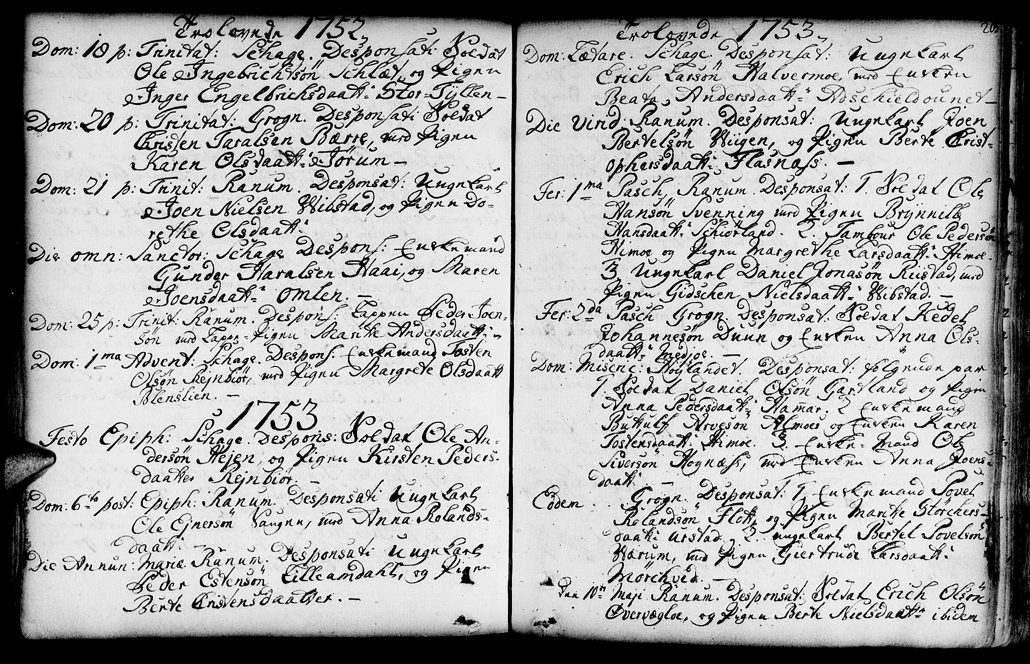 SAT, Ministerialprotokoller, klokkerbøker og fødselsregistre - Nord-Trøndelag, 764/L0542: Ministerialbok nr. 764A02, 1748-1779, s. 205