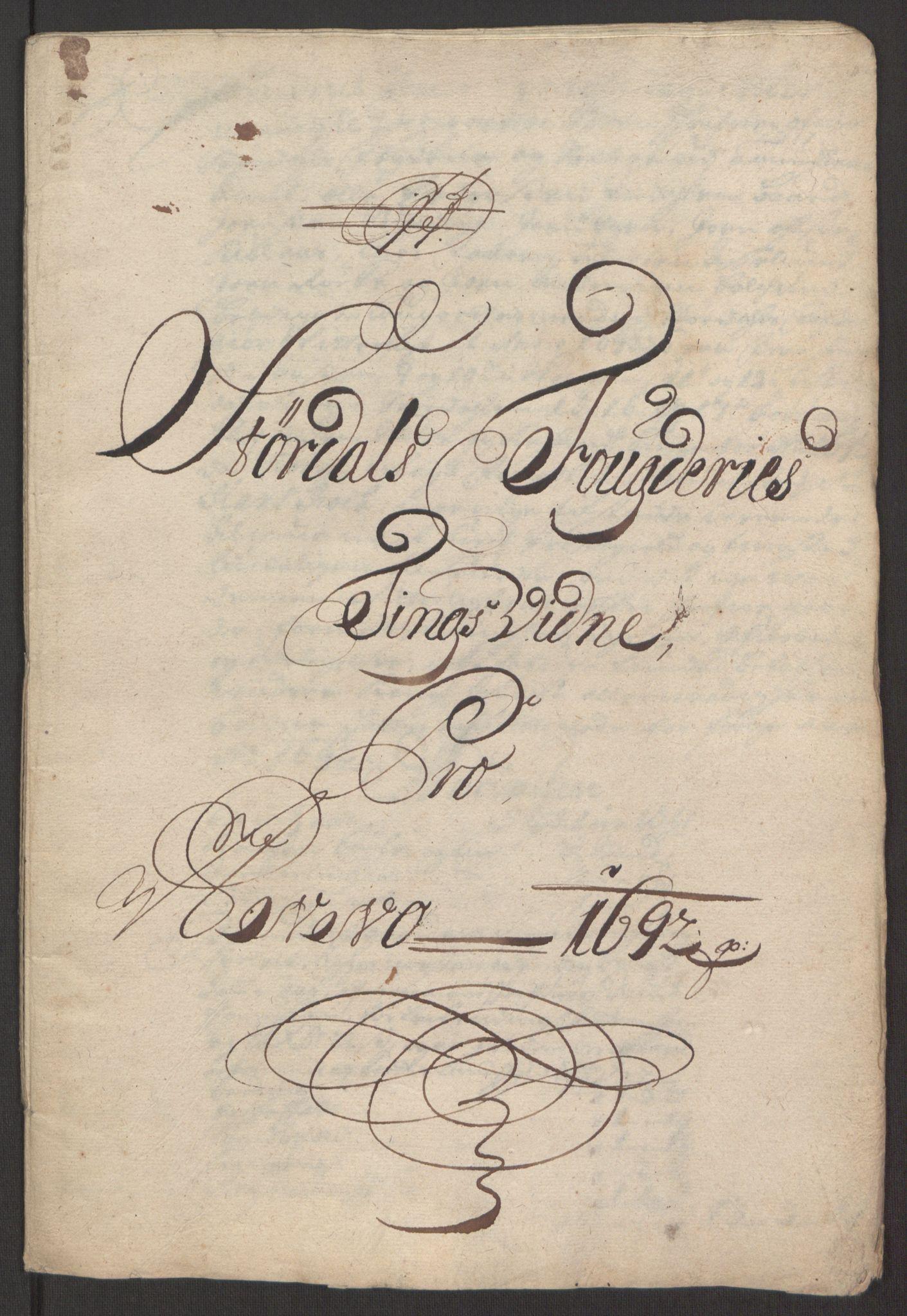 RA, Rentekammeret inntil 1814, Reviderte regnskaper, Fogderegnskap, R62/L4185: Fogderegnskap Stjørdal og Verdal, 1692, s. 282