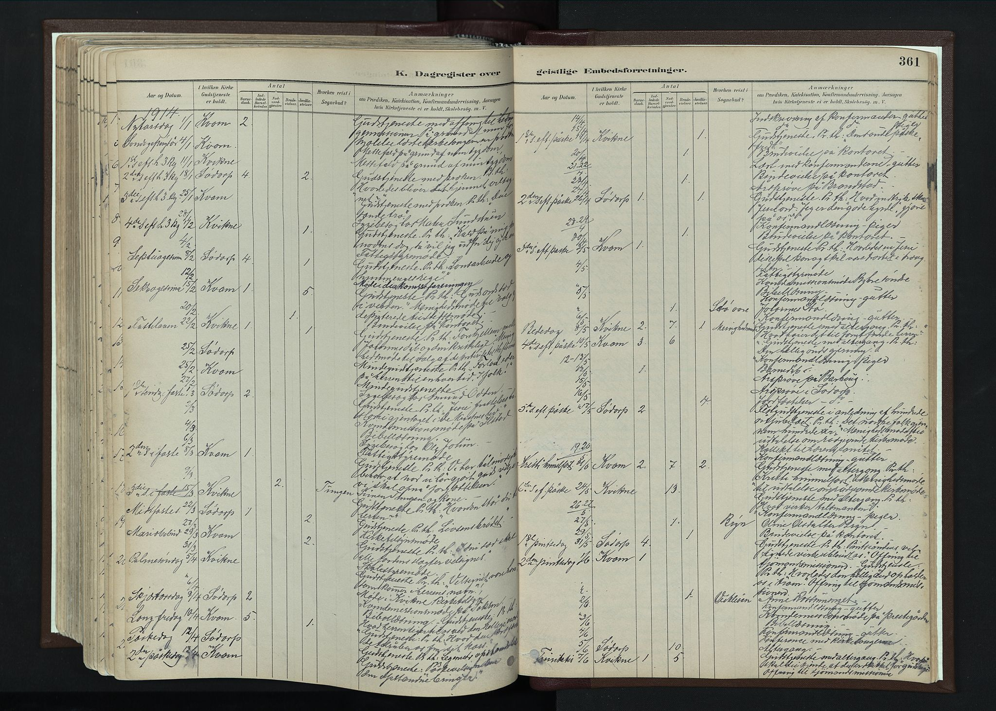 SAH, Nord-Fron prestekontor, Ministerialbok nr. 4, 1884-1914, s. 361