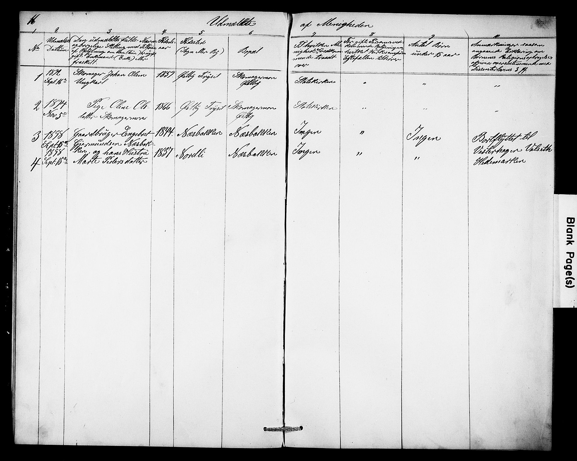 SAH, Misjonsforbundet, 01/L0003: Dissenterprotokoll nr. 3, 1892-1920, s. 16