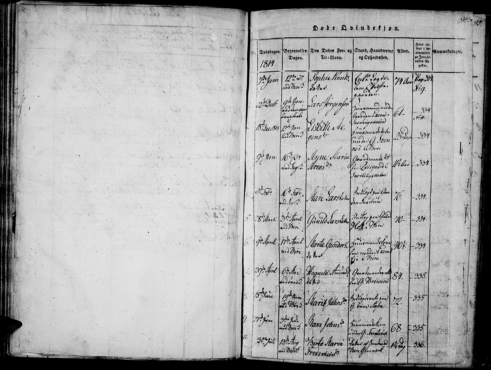 SAH, Biri prestekontor, Ministerialbok nr. 3, 1814-1828, s. 94