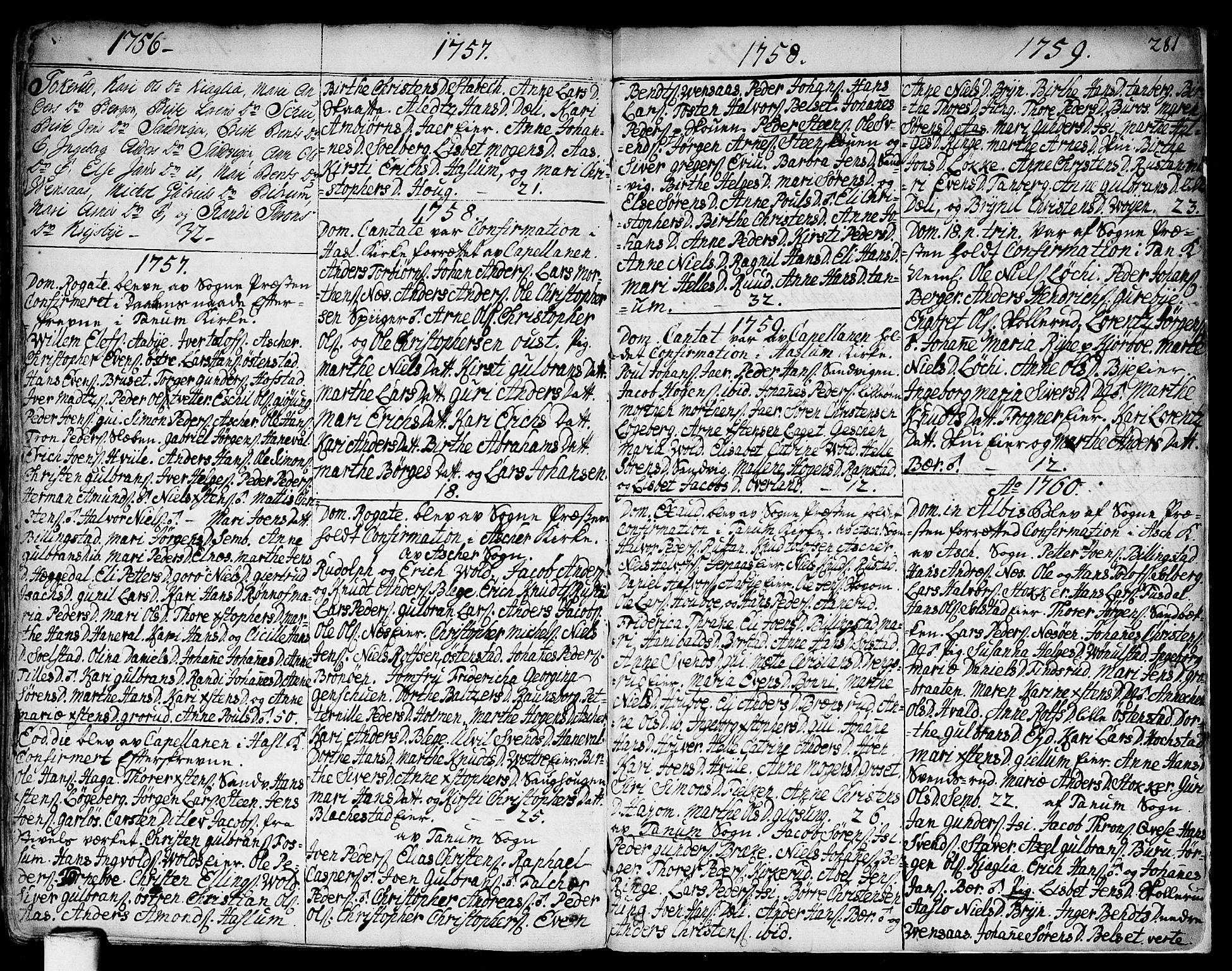SAO, Asker prestekontor Kirkebøker, F/Fa/L0002: Ministerialbok nr. I 2, 1733-1766, s. 281