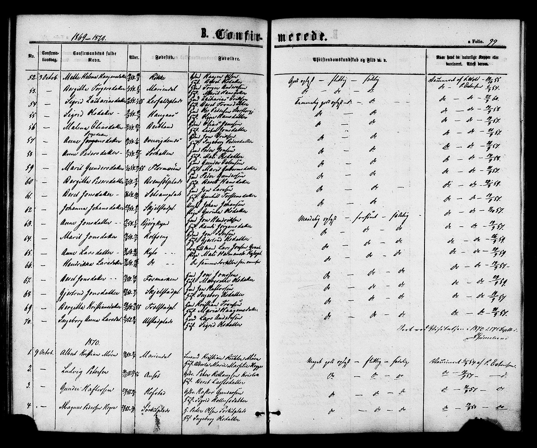 SAT, Ministerialprotokoller, klokkerbøker og fødselsregistre - Nord-Trøndelag, 703/L0029: Ministerialbok nr. 703A02, 1863-1879, s. 99