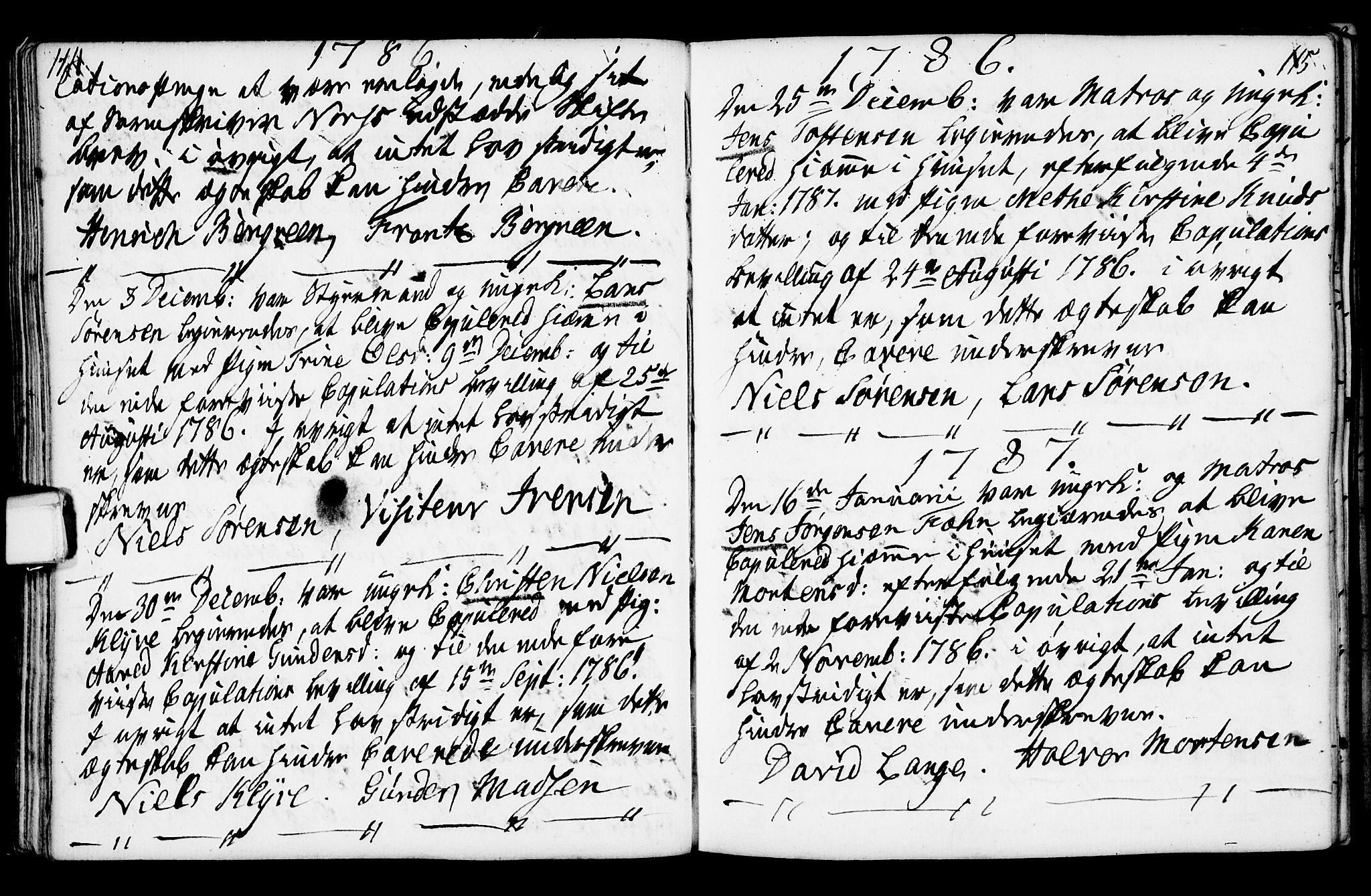 SAKO, Porsgrunn kirkebøker , F/Fa/L0003: Ministerialbok nr. 3, 1764-1814, s. 114-115