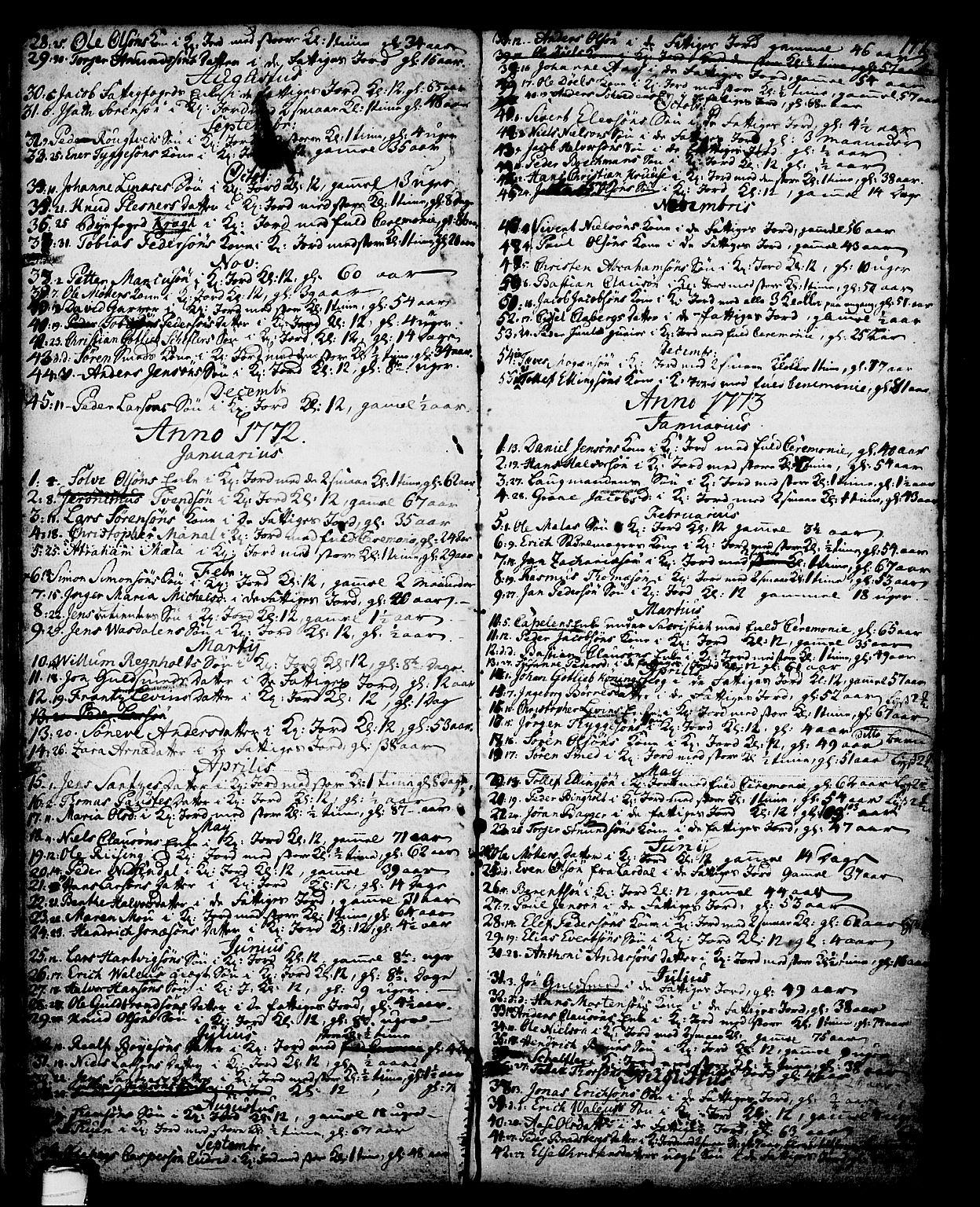 SAKO, Skien kirkebøker, G/Ga/L0001: Klokkerbok nr. 1, 1756-1791, s. 147