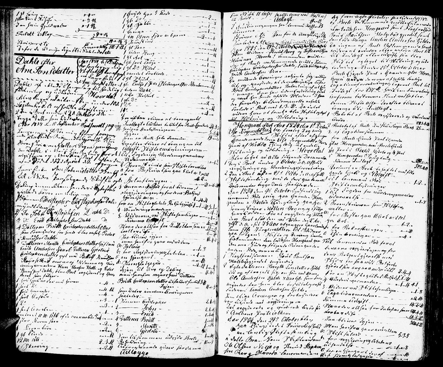 SAT, Romsdal sorenskriveri, 3/3A/L0016: Skifteutlodnings Protokoll 2, 1823-1831, s. 147
