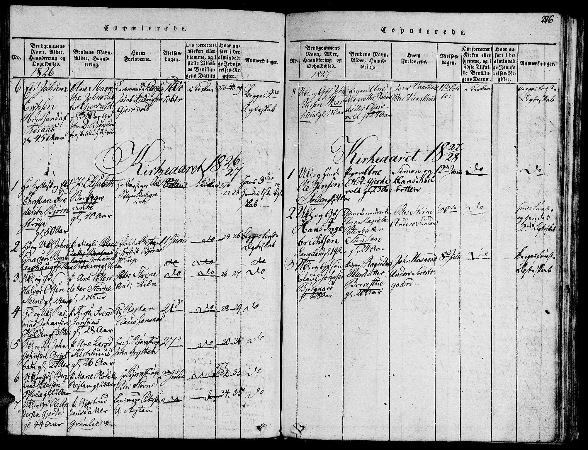 SAT, Ministerialprotokoller, klokkerbøker og fødselsregistre - Sør-Trøndelag, 685/L0956: Ministerialbok nr. 685A03 /3, 1817-1829, s. 226