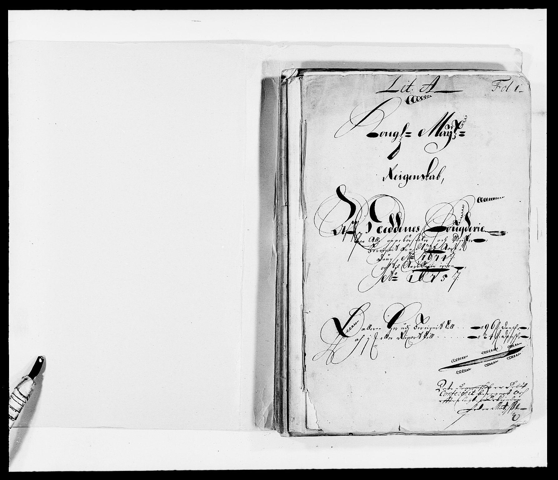 RA, Rentekammeret inntil 1814, Reviderte regnskaper, Fogderegnskap, R39/L2300: Fogderegnskap Nedenes, 1672-1674, s. 237