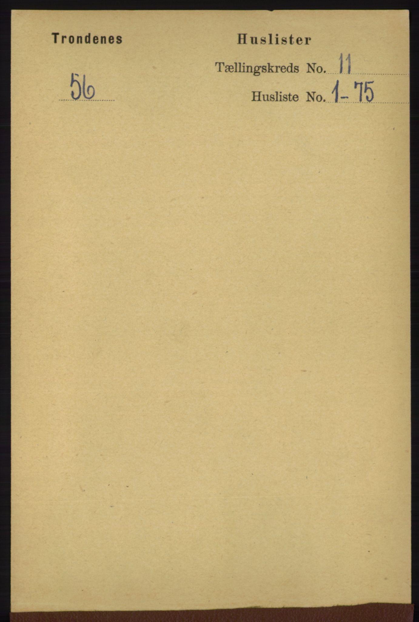 RA, Folketelling 1891 for 1914 Trondenes herred, 1891, s. 7922