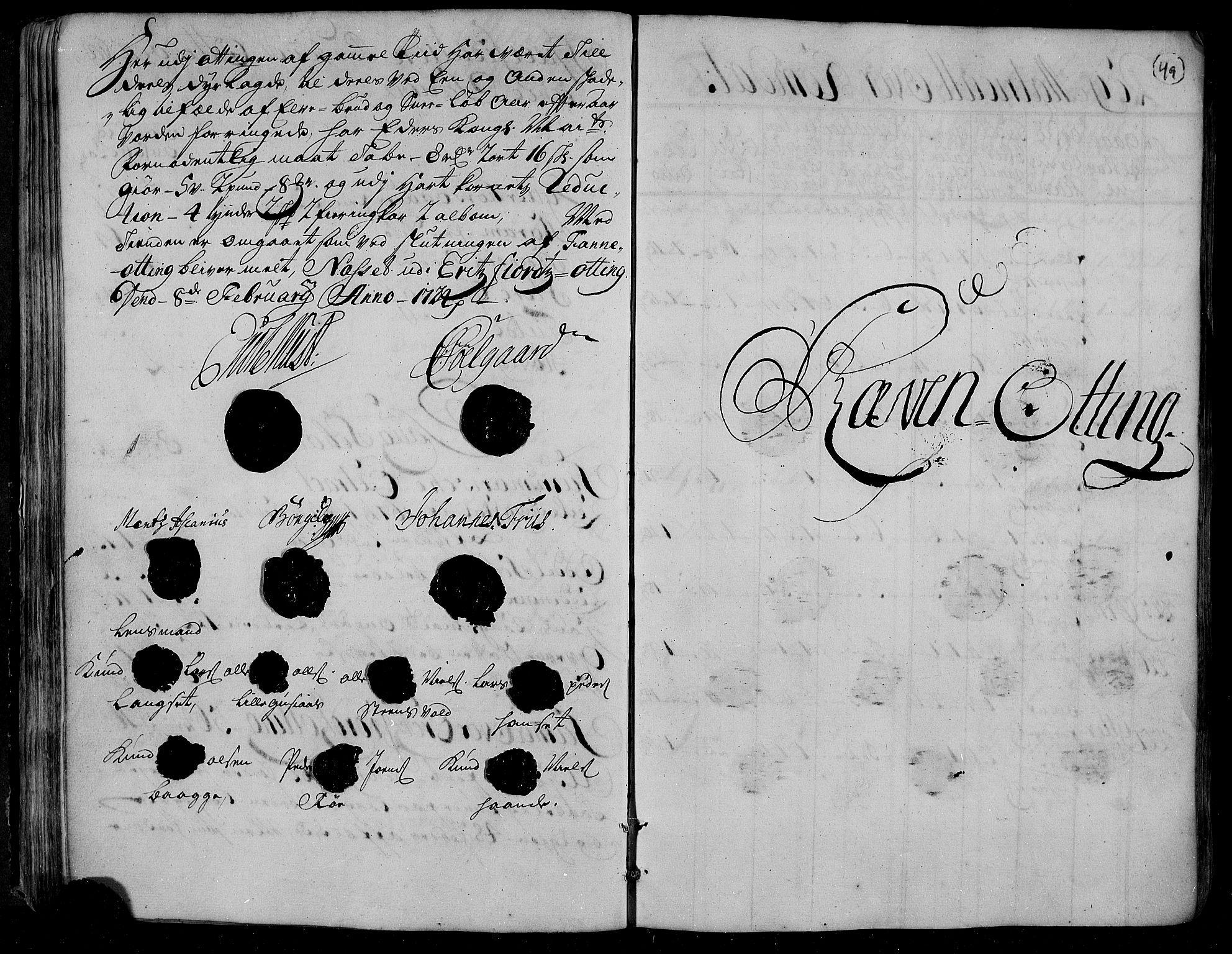 RA, Rentekammeret inntil 1814, Realistisk ordnet avdeling, N/Nb/Nbf/L0153: Romsdal matrikkelprotokoll, 1724, s. 48b-49a