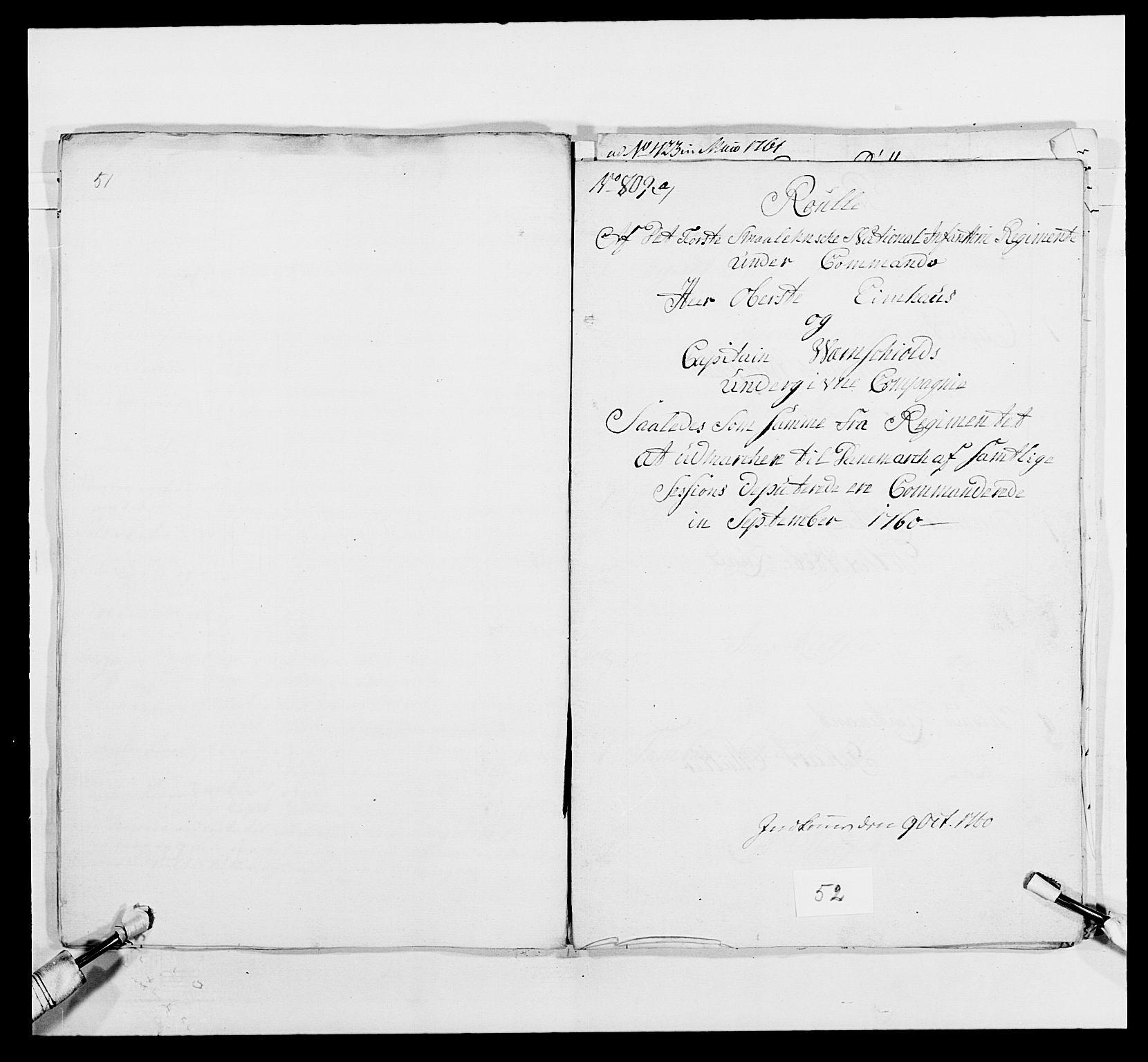 RA, Kommanderende general (KG I) med Det norske krigsdirektorium, E/Ea/L0495: 1. Smålenske regiment, 1732-1763, s. 683