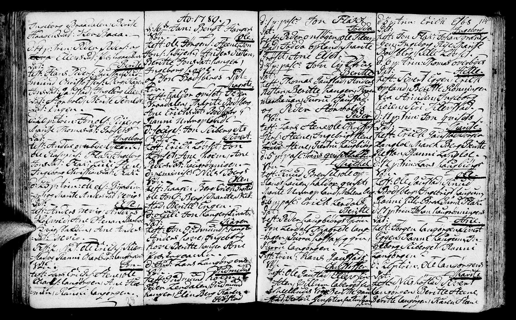 SAT, Ministerialprotokoller, klokkerbøker og fødselsregistre - Sør-Trøndelag, 612/L0370: Ministerialbok nr. 612A04, 1754-1802, s. 114