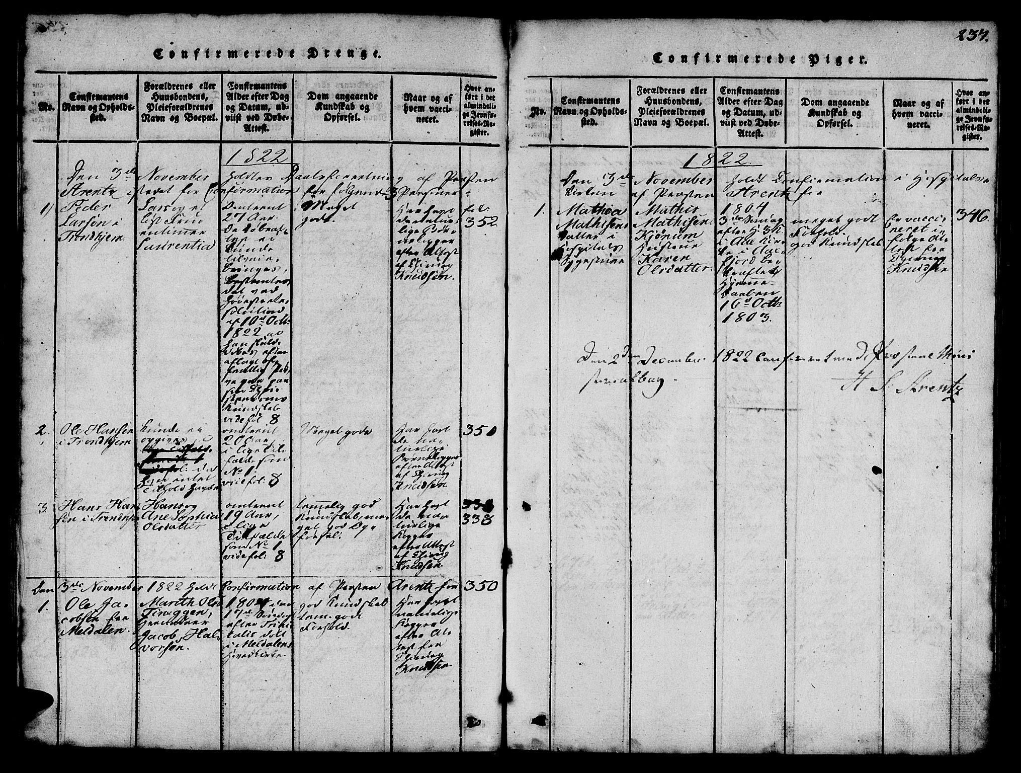 SAT, Ministerialprotokoller, klokkerbøker og fødselsregistre - Sør-Trøndelag, 623/L0478: Klokkerbok nr. 623C01, 1815-1873, s. 237