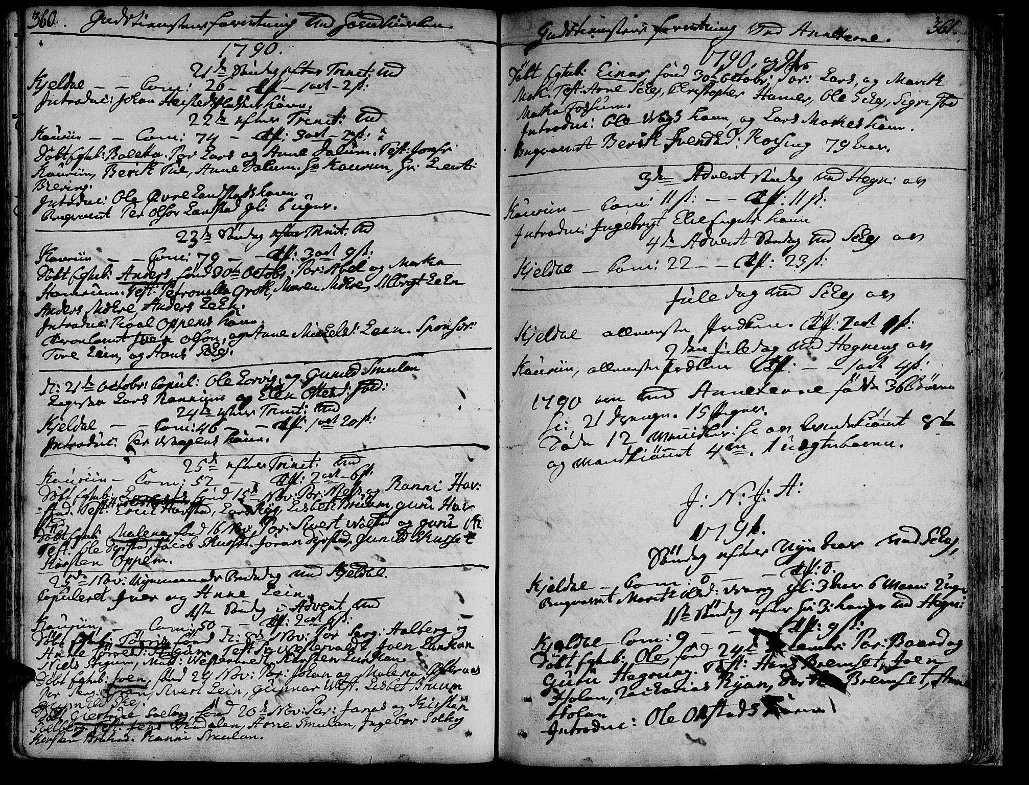 SAT, Ministerialprotokoller, klokkerbøker og fødselsregistre - Nord-Trøndelag, 735/L0331: Ministerialbok nr. 735A02, 1762-1794, s. 360-361