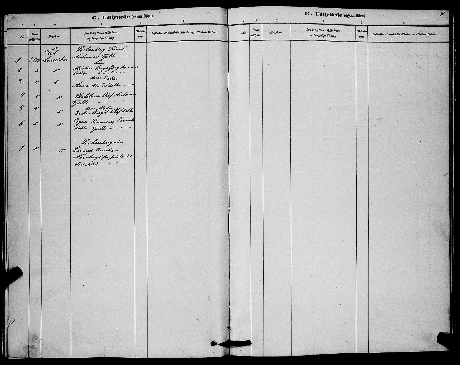 SAKO, Lårdal kirkebøker, G/Gc/L0003: Klokkerbok nr. III 3, 1878-1890, s. 91