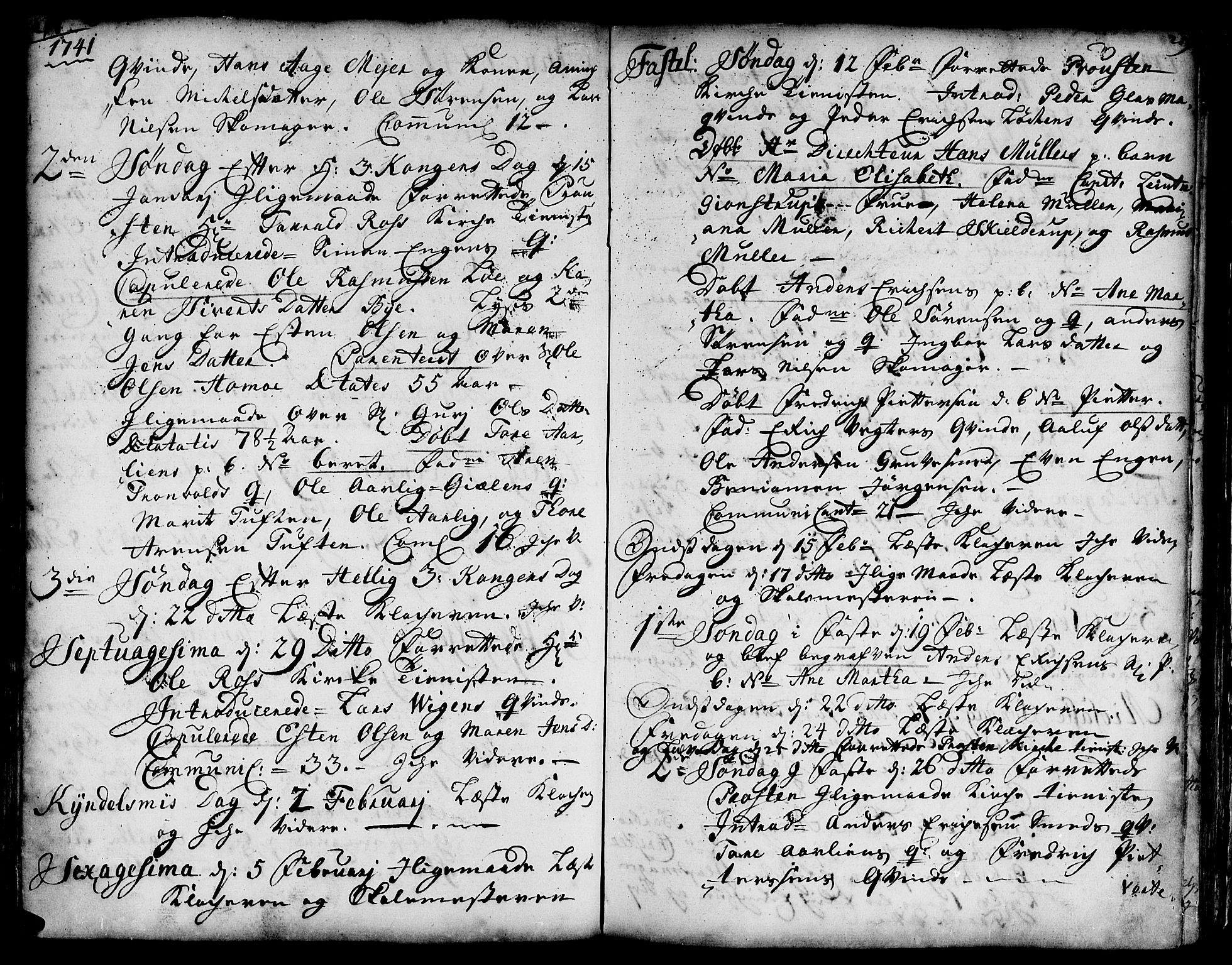 SAT, Ministerialprotokoller, klokkerbøker og fødselsregistre - Sør-Trøndelag, 671/L0839: Ministerialbok nr. 671A01, 1730-1755, s. 218-219