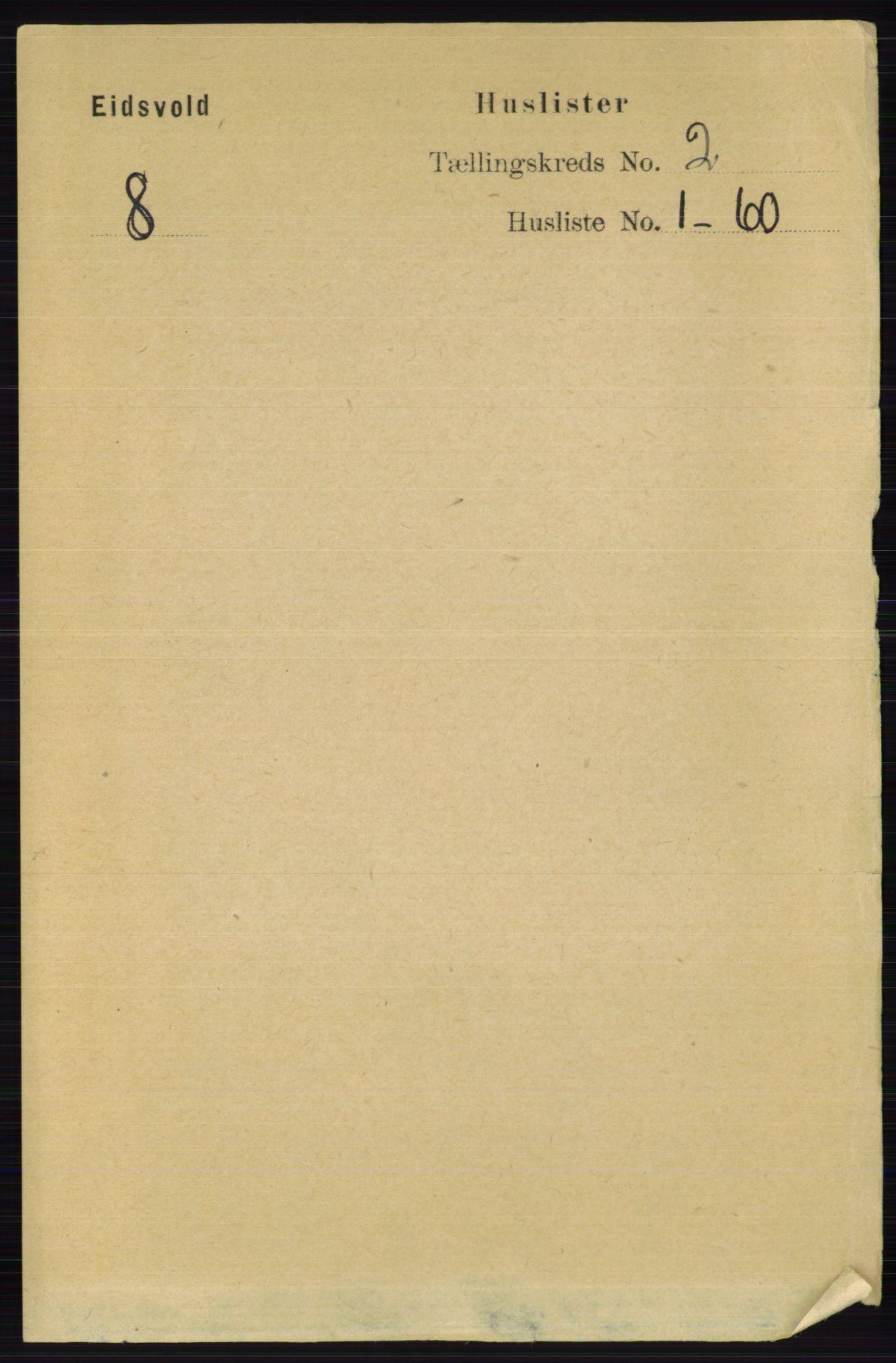 RA, Folketelling 1891 for 0237 Eidsvoll herred, 1891, s. 1115