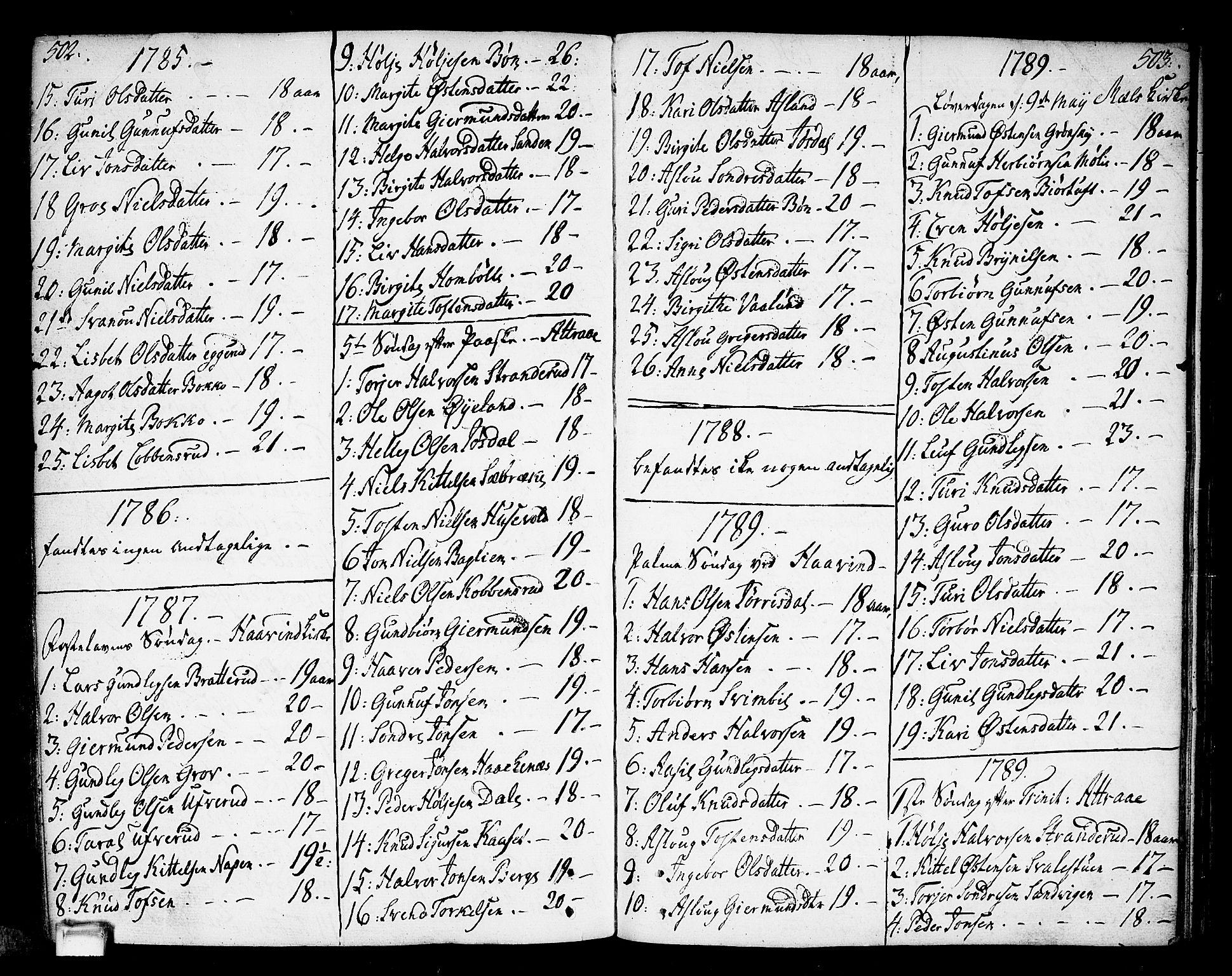 SAKO, Tinn kirkebøker, F/Fa/L0002: Ministerialbok nr. I 2, 1757-1810, s. 502-503
