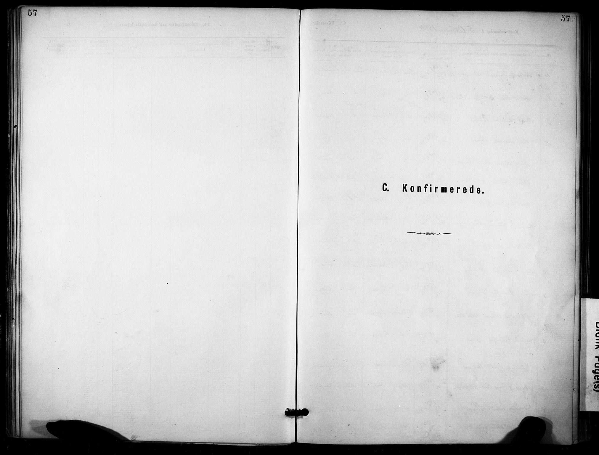SAKO, Lunde kirkebøker, F/Fa/L0002: Ministerialbok nr. I 2, 1884-1892, s. 57