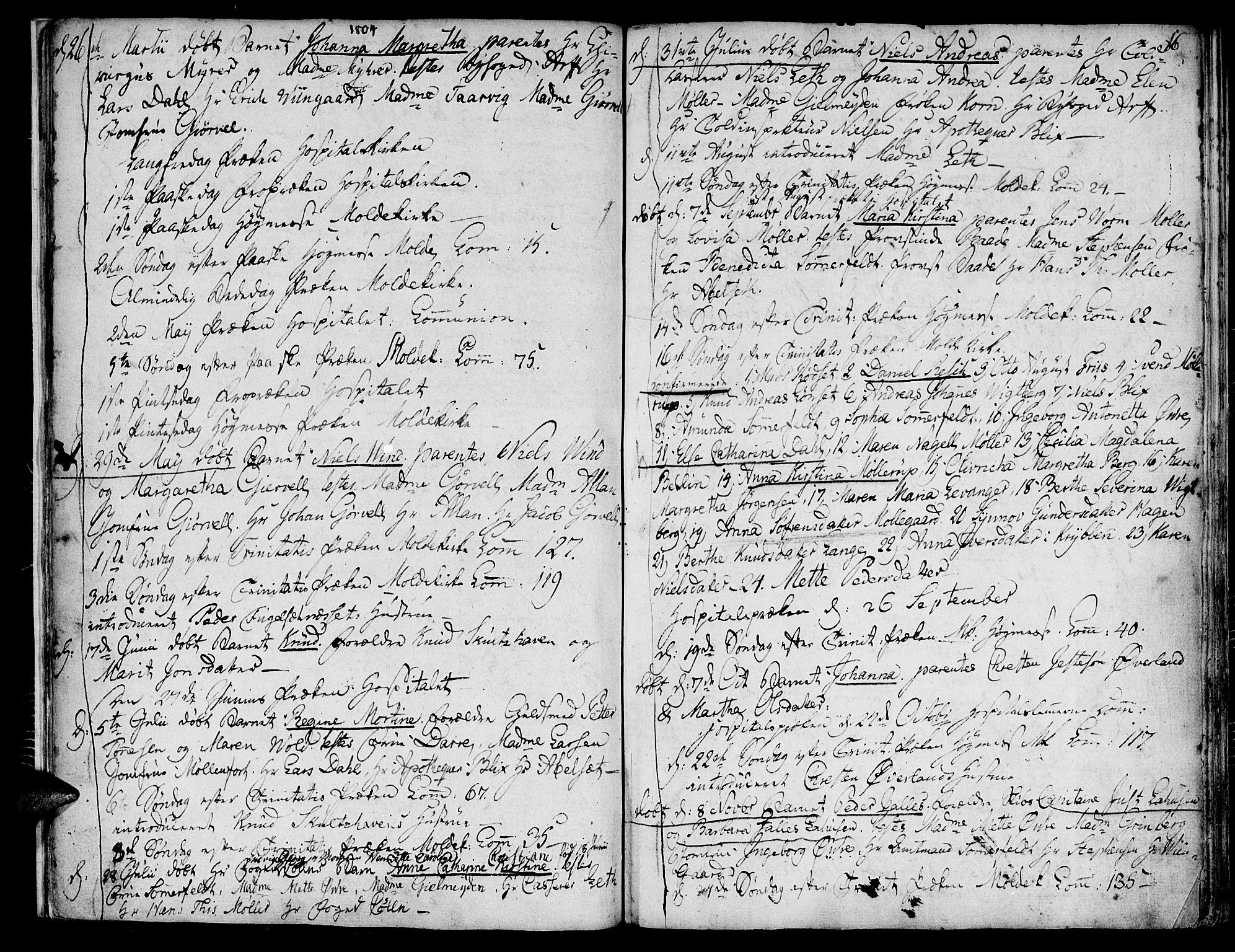 SAT, Ministerialprotokoller, klokkerbøker og fødselsregistre - Møre og Romsdal, 558/L0687: Ministerialbok nr. 558A01, 1798-1818, s. 16