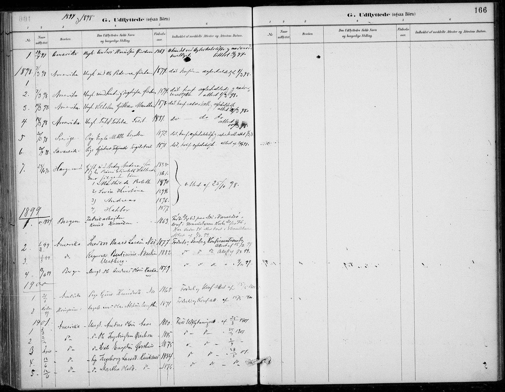 SAB, Strandebarm sokneprestembete, H/Haa: Ministerialbok nr. D  1, 1886-1912, s. 166