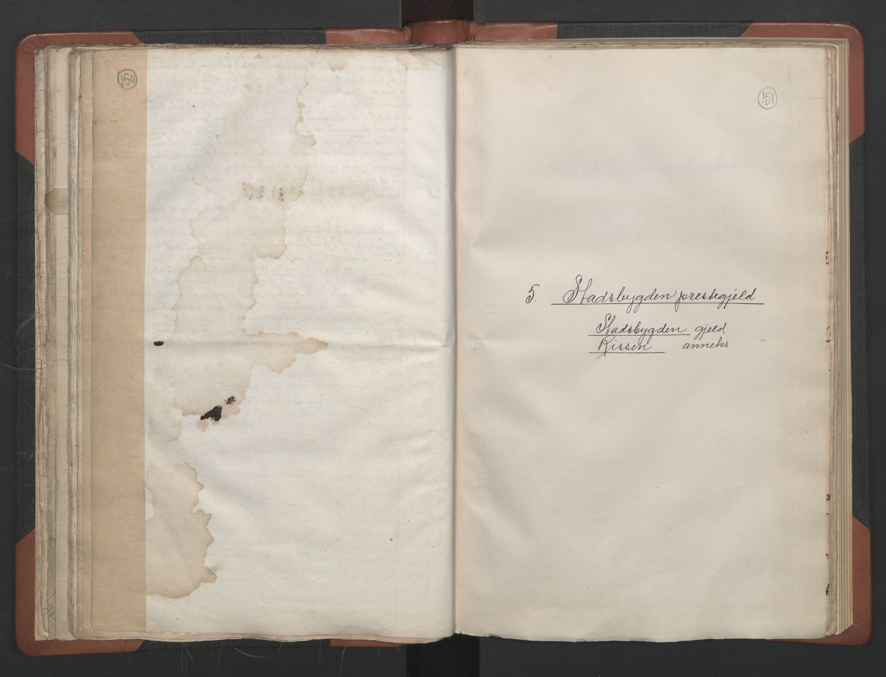 RA, Sogneprestenes manntall 1664-1666, nr. 30: Fosen prosti, 1664-1666, s. 150-151