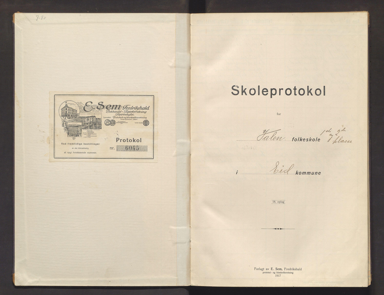 IKAH, Fjelberg kommune. Barneskulane, F/Fb/L0010: Skuleprotokoll for Valen skule, 1918