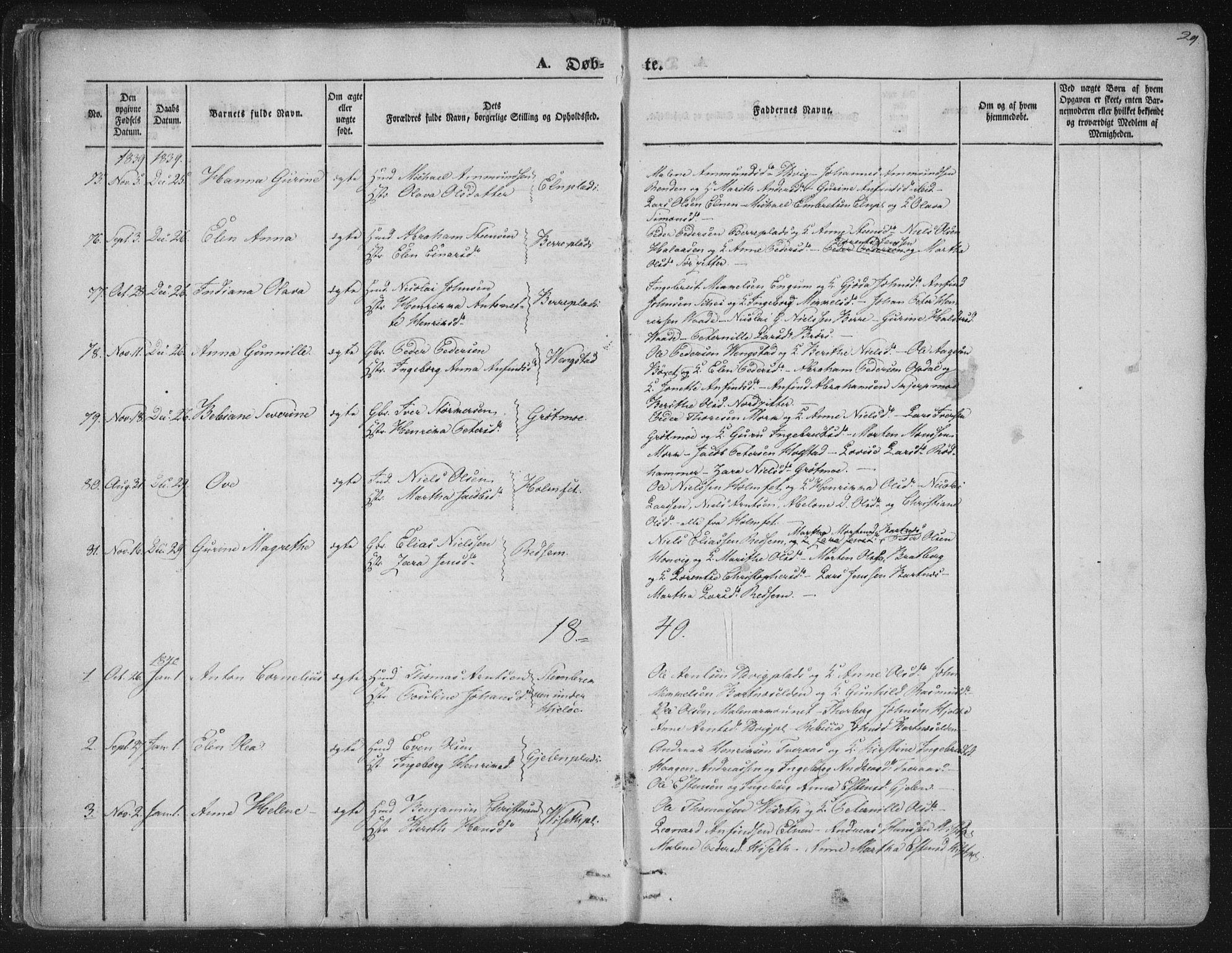 SAT, Ministerialprotokoller, klokkerbøker og fødselsregistre - Nord-Trøndelag, 741/L0392: Ministerialbok nr. 741A06, 1836-1848, s. 29