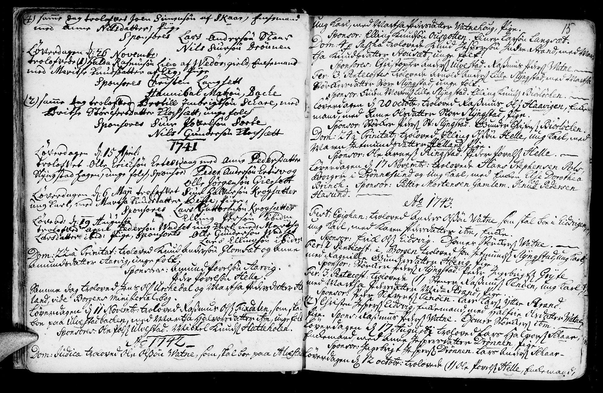 SAT, Ministerialprotokoller, klokkerbøker og fødselsregistre - Møre og Romsdal, 525/L0371: Ministerialbok nr. 525A01, 1699-1777, s. 15